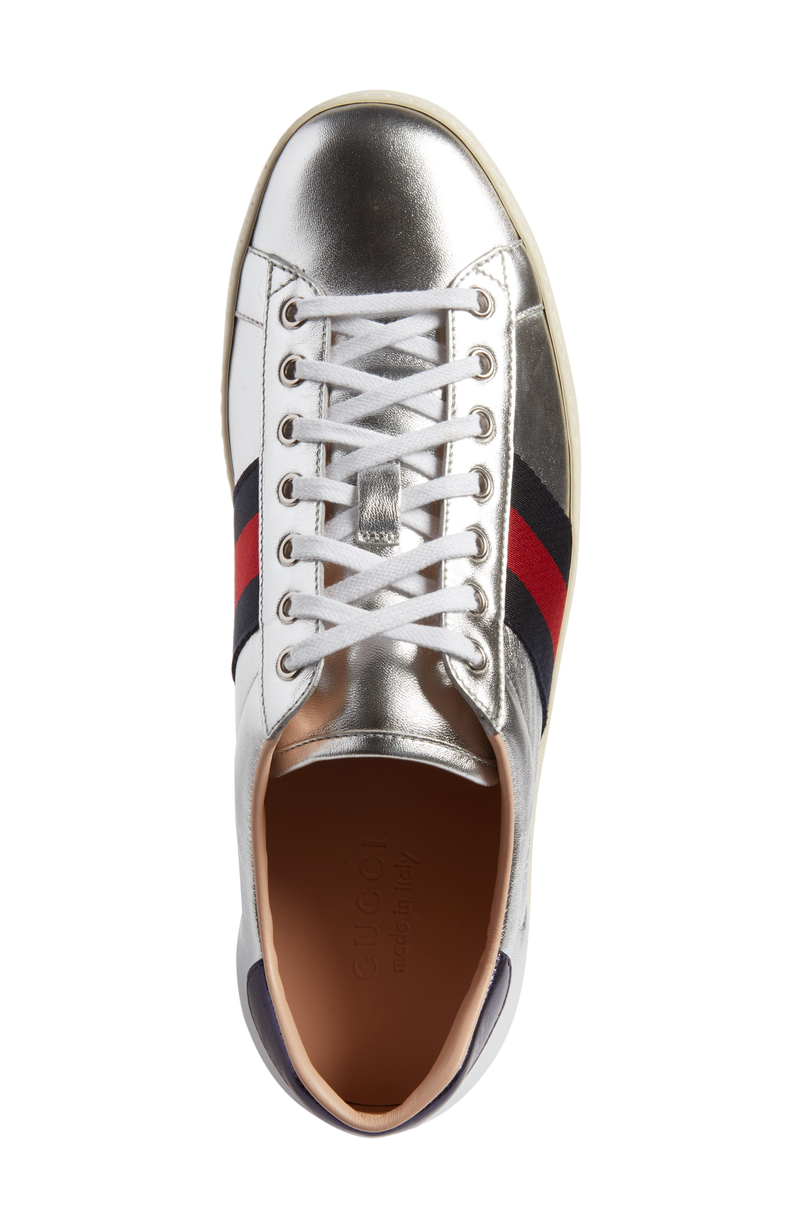 New Ace Platform Sneaker,                             Alternate thumbnail 5, color,                             Silver Multi