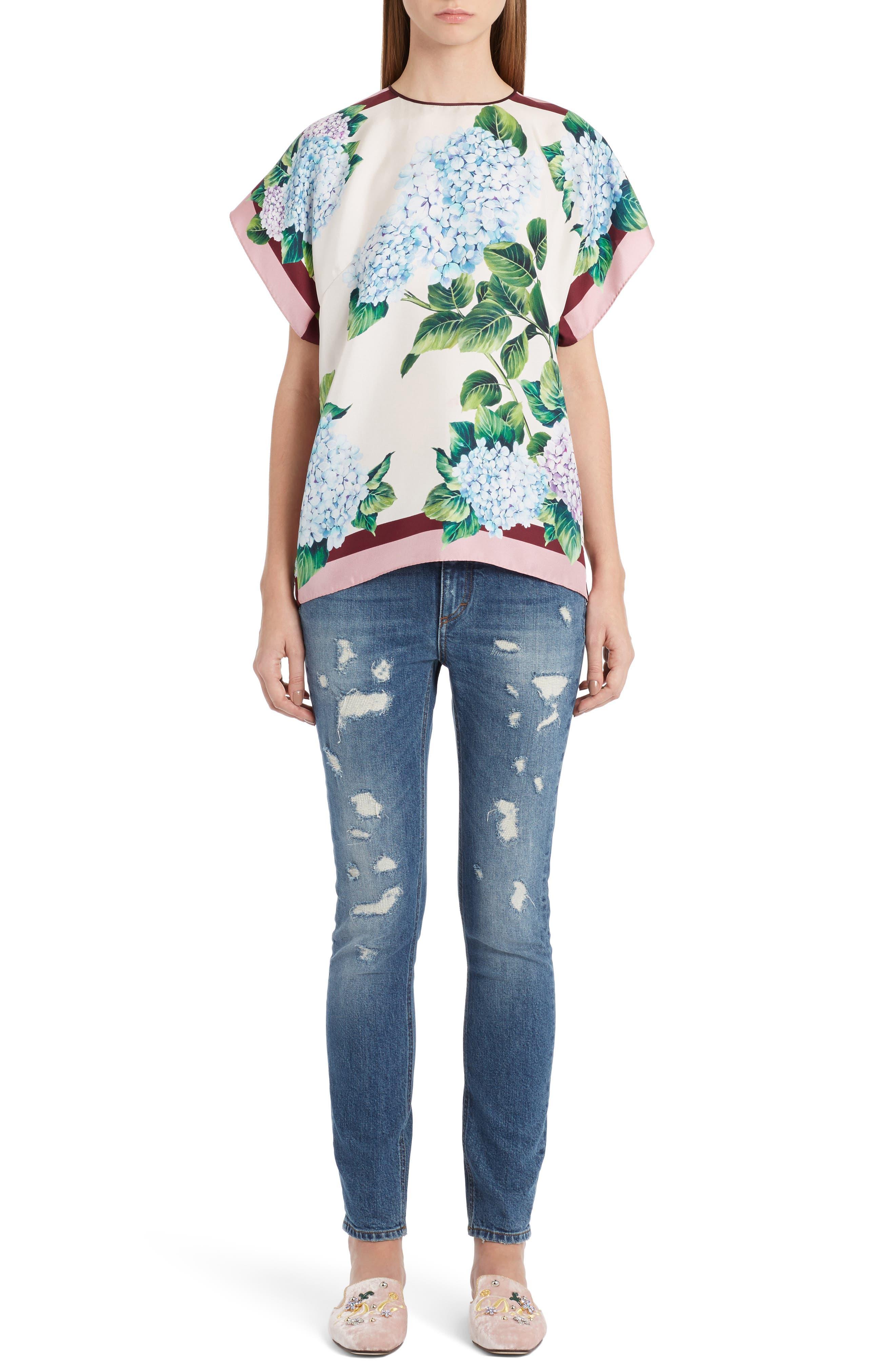 Alternate Image 6  - Dolce&Gabbana Ripped Skinny Jeans