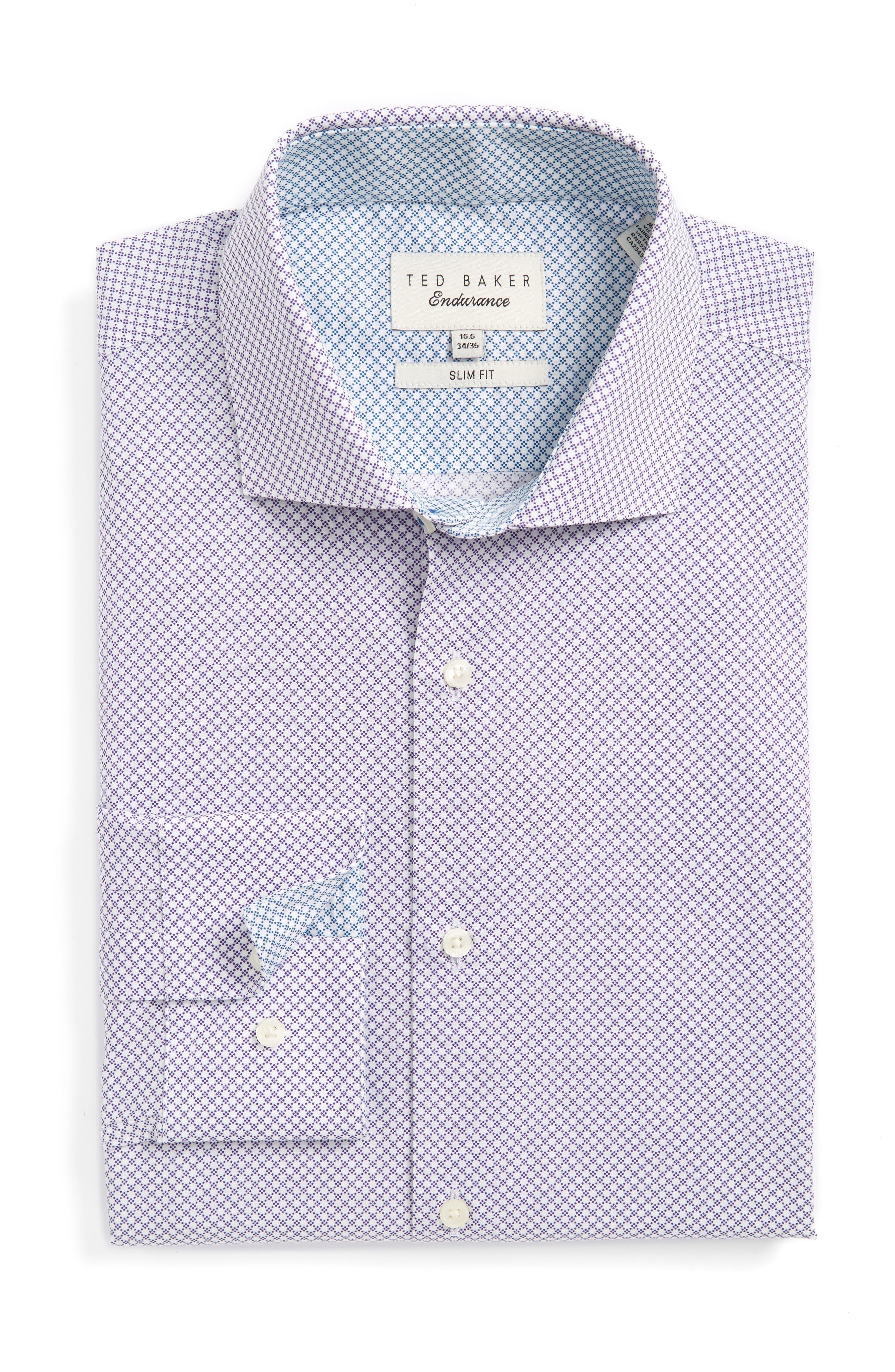 Ted Baker London Locket Slim Fit Geometric Dress Shirt