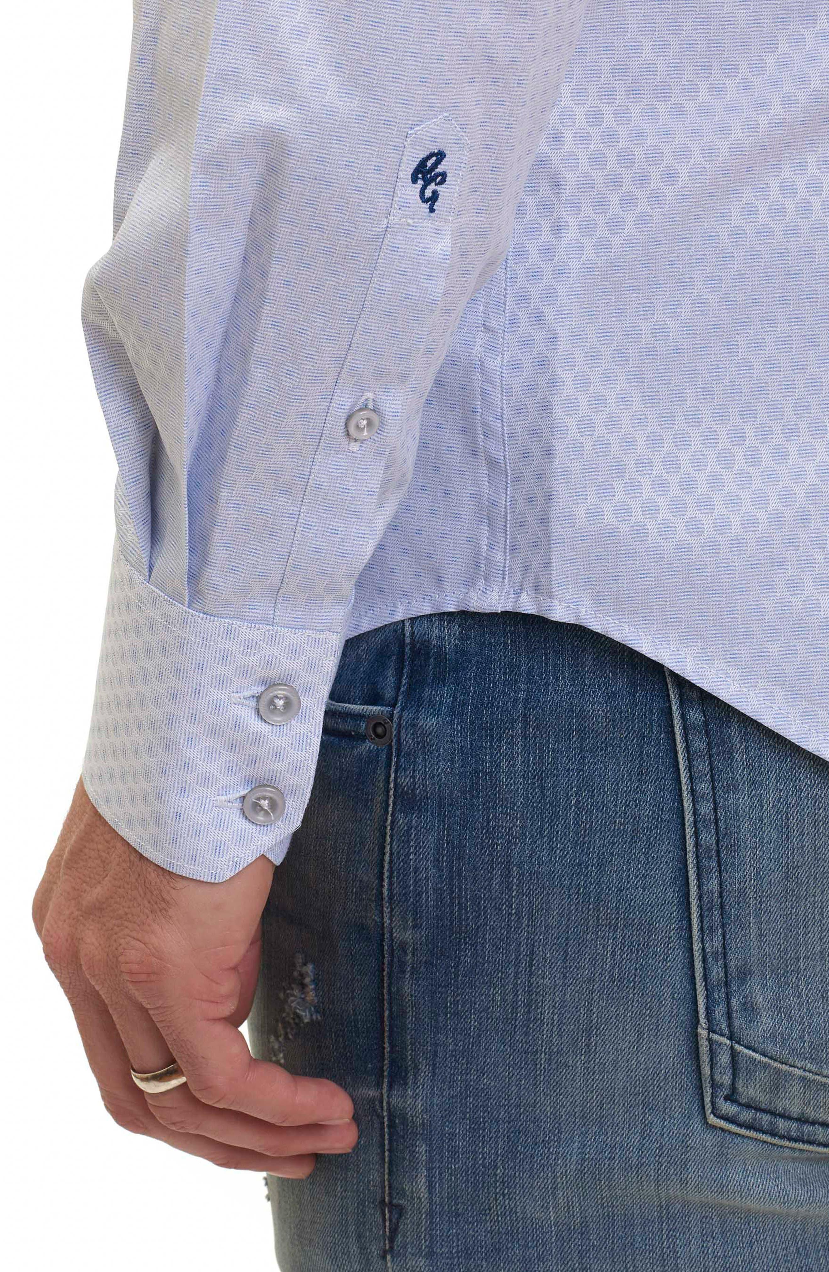 Alternate Image 4  - Robert Graham Classic Fit Print Sport Shirt