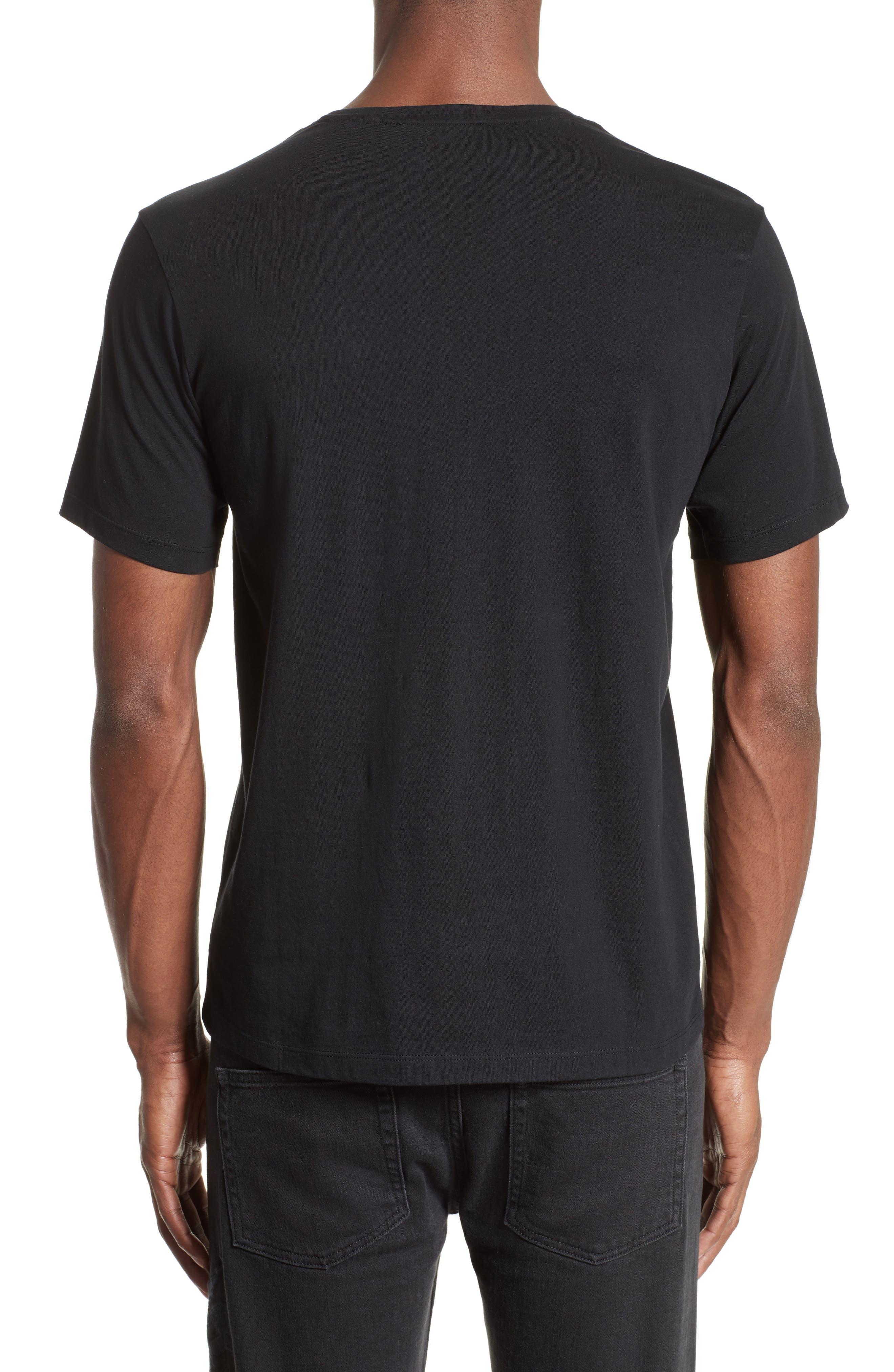 Silkscreen Finish T-Shirt,                             Alternate thumbnail 2, color,                             Black