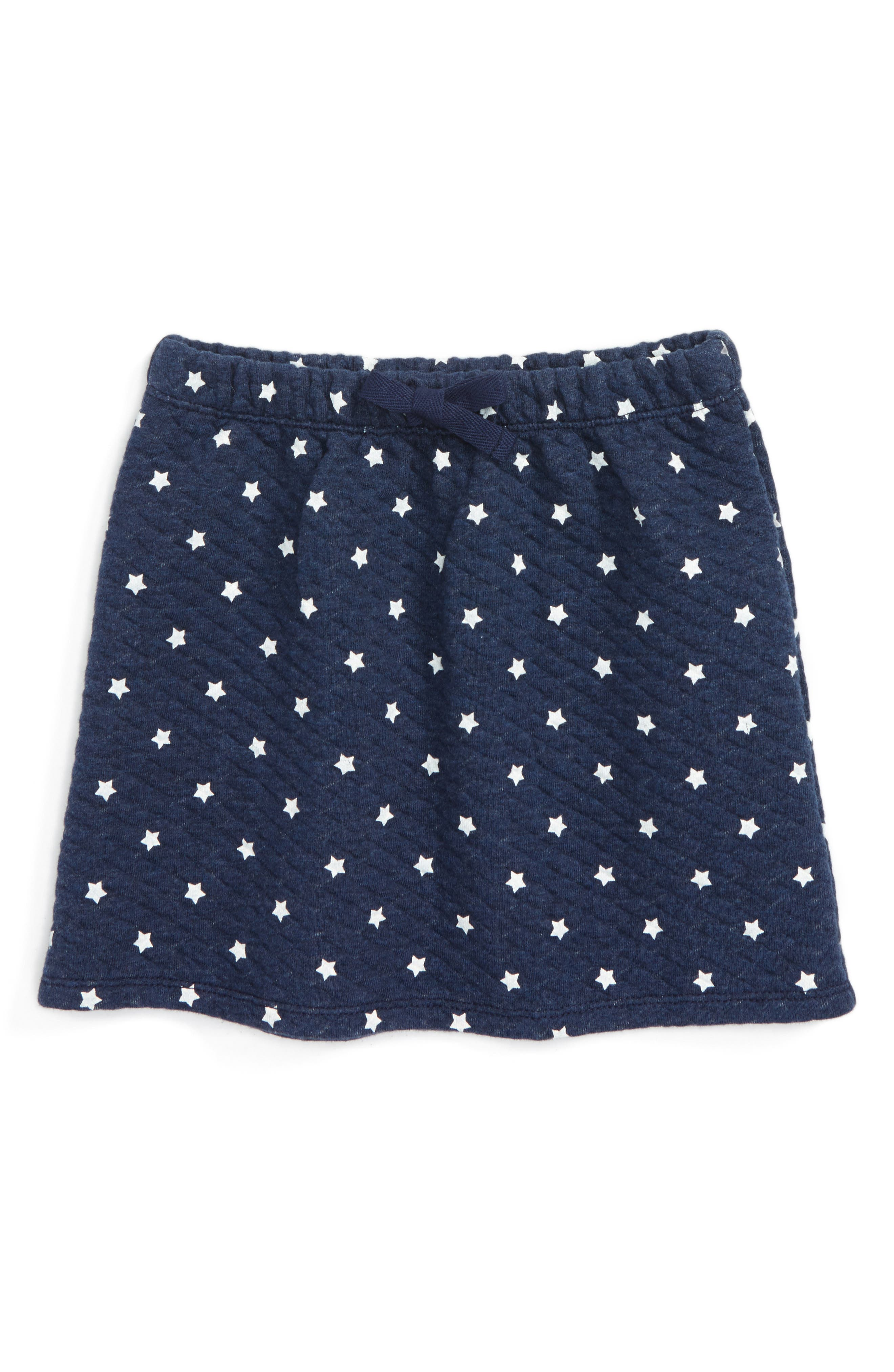 Thea Star Skirt,                         Main,                         color, Navy Peacoat Heather Stars