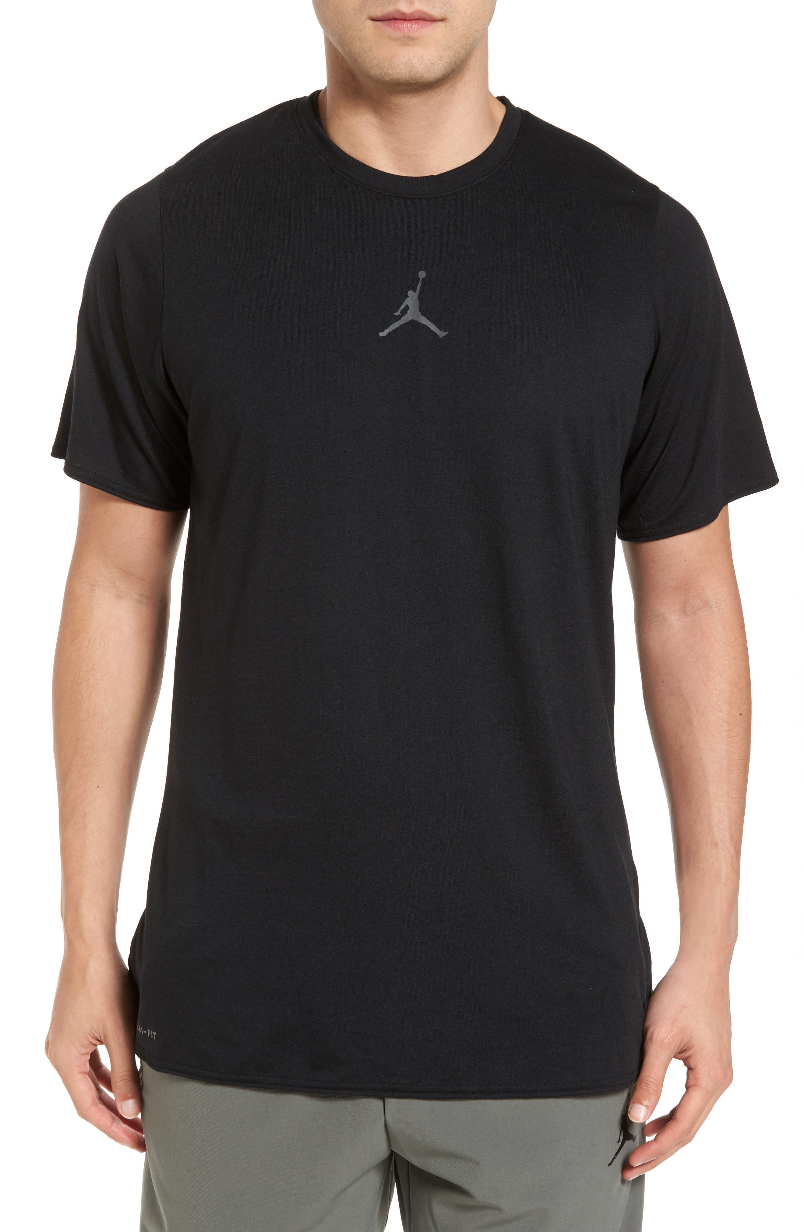 23 Alpha Dry T-Shirt,                         Main,                         color, Black/ Anthracite