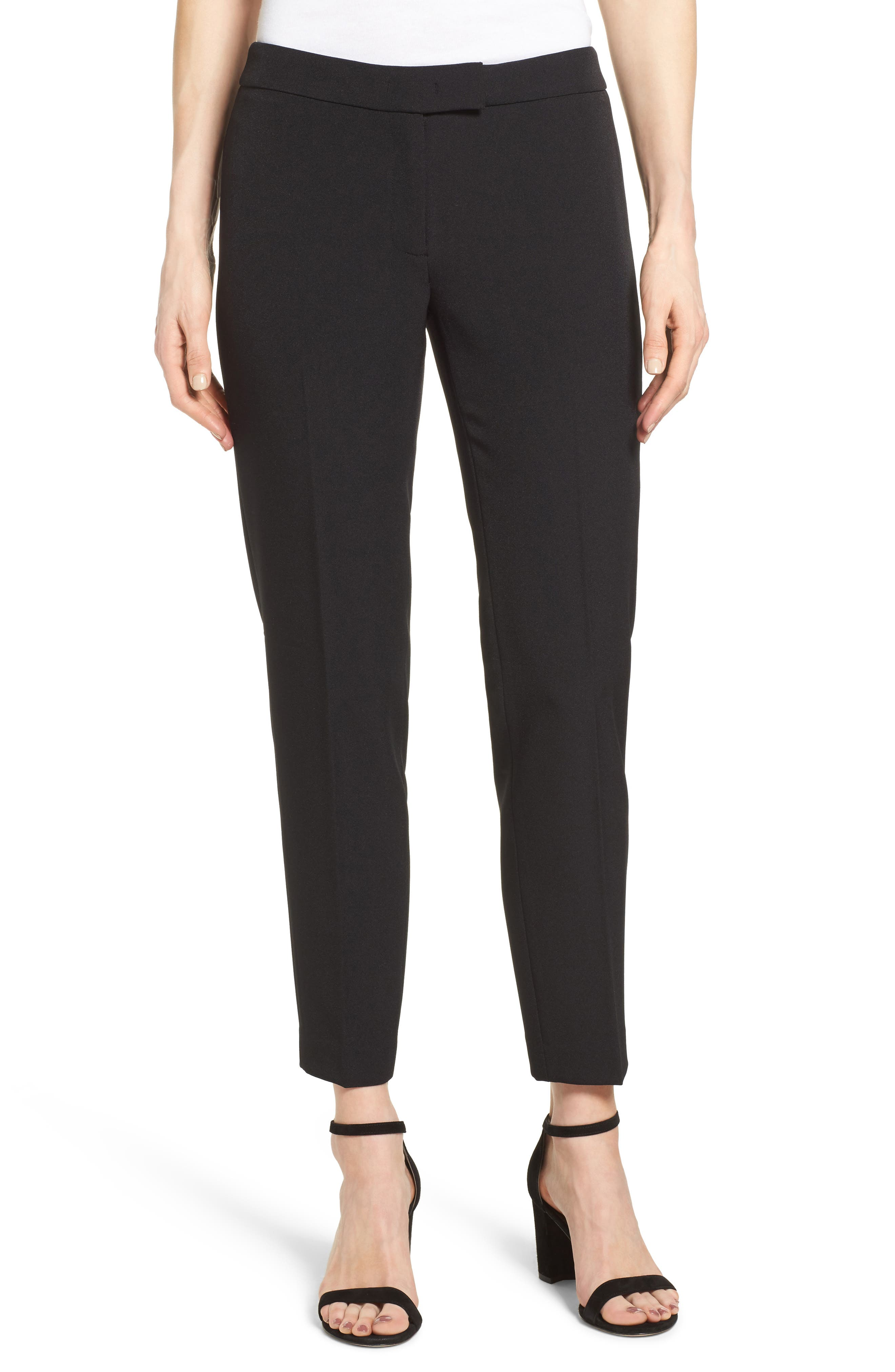 Slim Leg Pants,                             Main thumbnail 1, color,                             Black