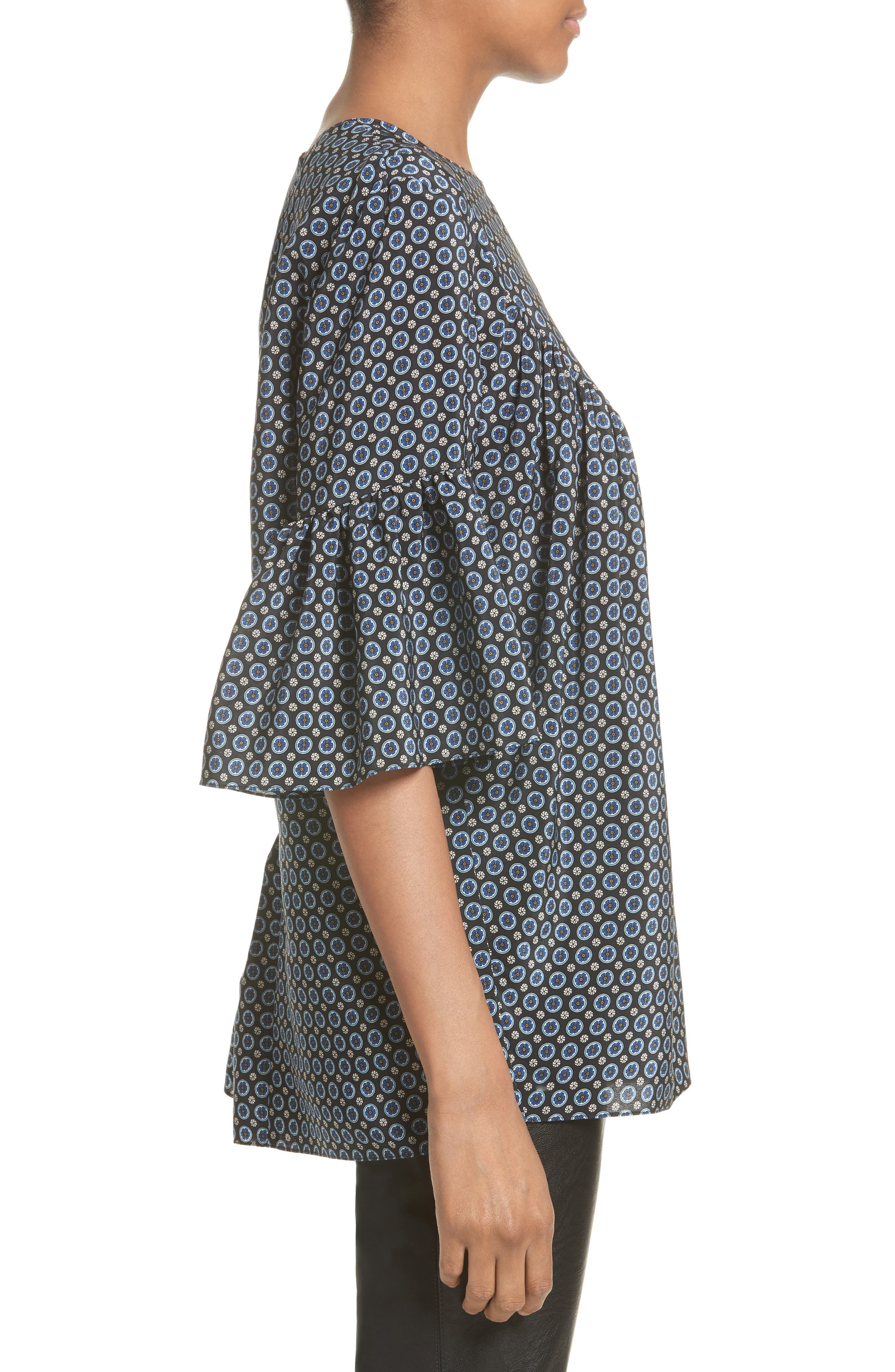 Alternate Image 5  - Stella McCartney Windsor Print Silk Ruffle Blouse