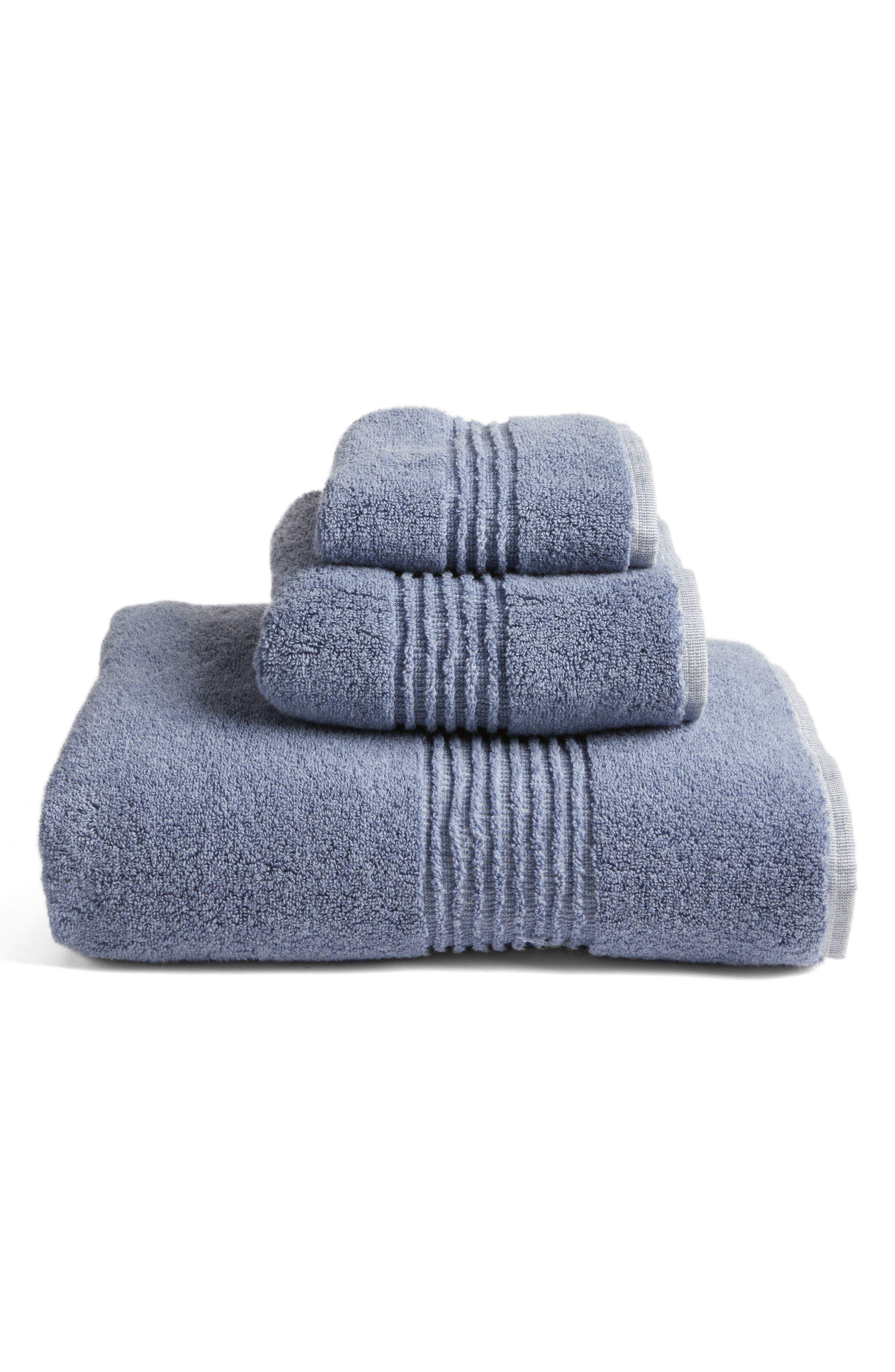 Organic Hydrocotton Bath Towel,                             Alternate thumbnail 3, color,                             Navy Sky