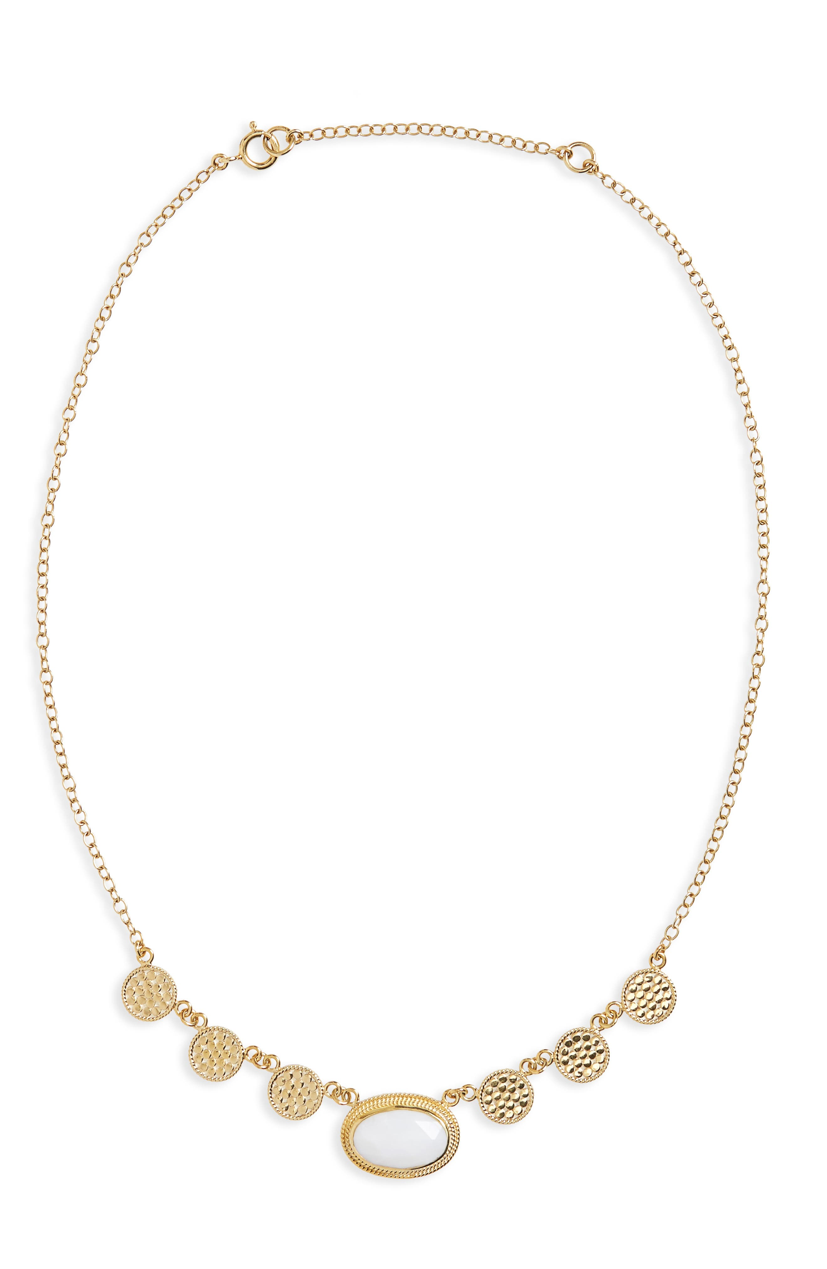 Anna Beck White Opal Frontal Necklace