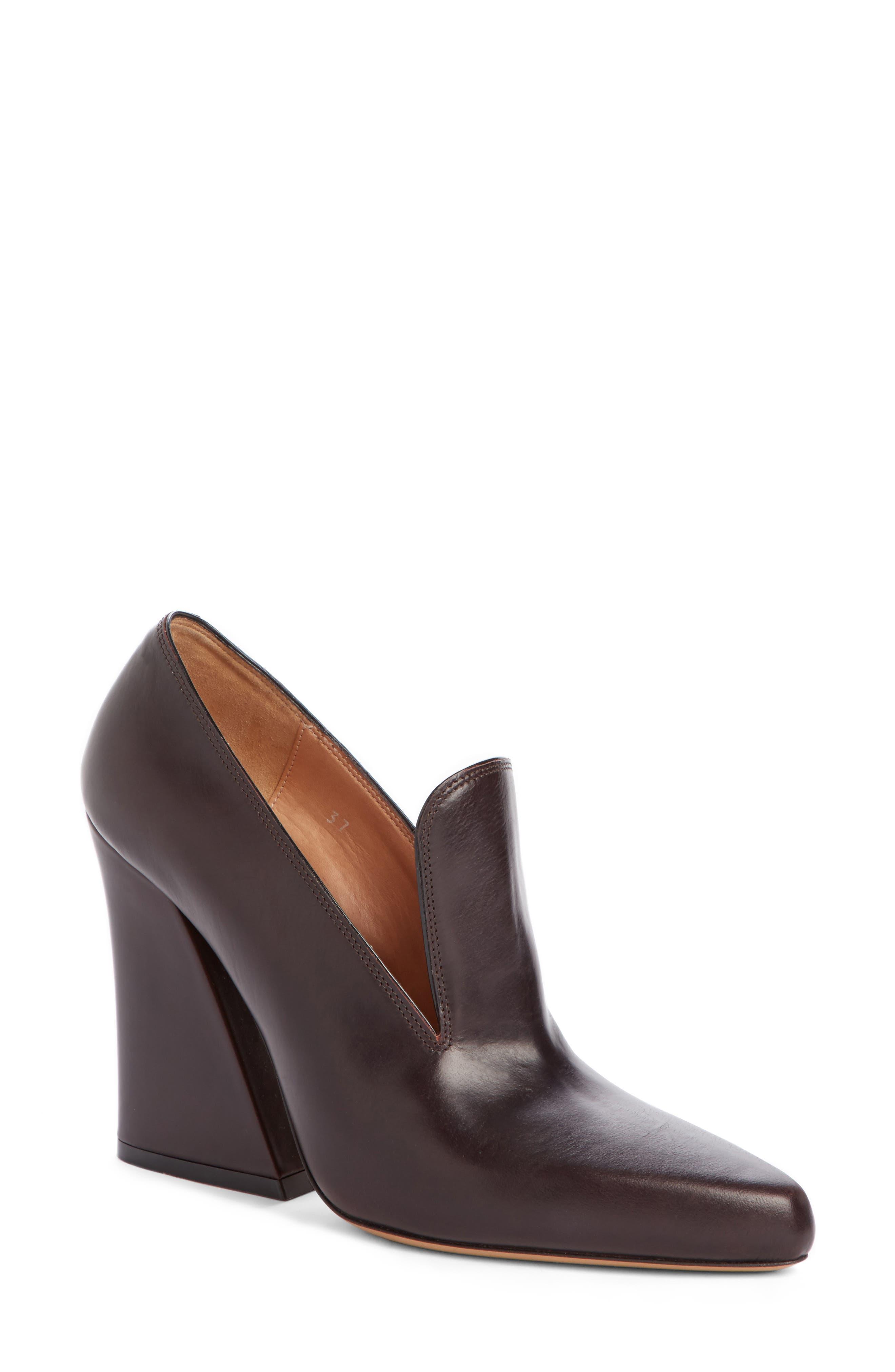 Block Heel Loafer Pump,                             Main thumbnail 1, color,                             Black