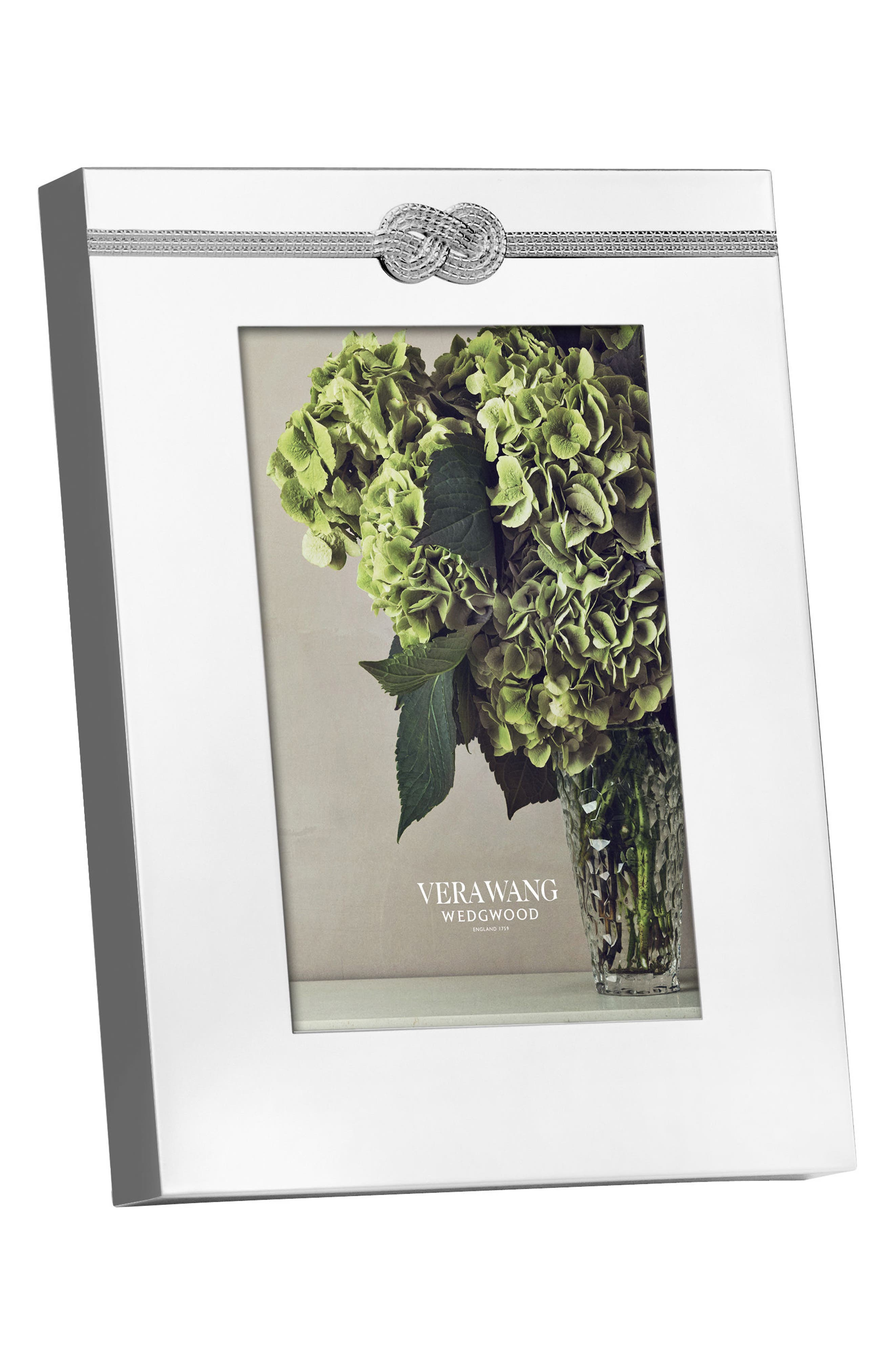 x Wedgewood Infinity Picture Frame,                             Alternate thumbnail 3, color,                             Metallic Silver