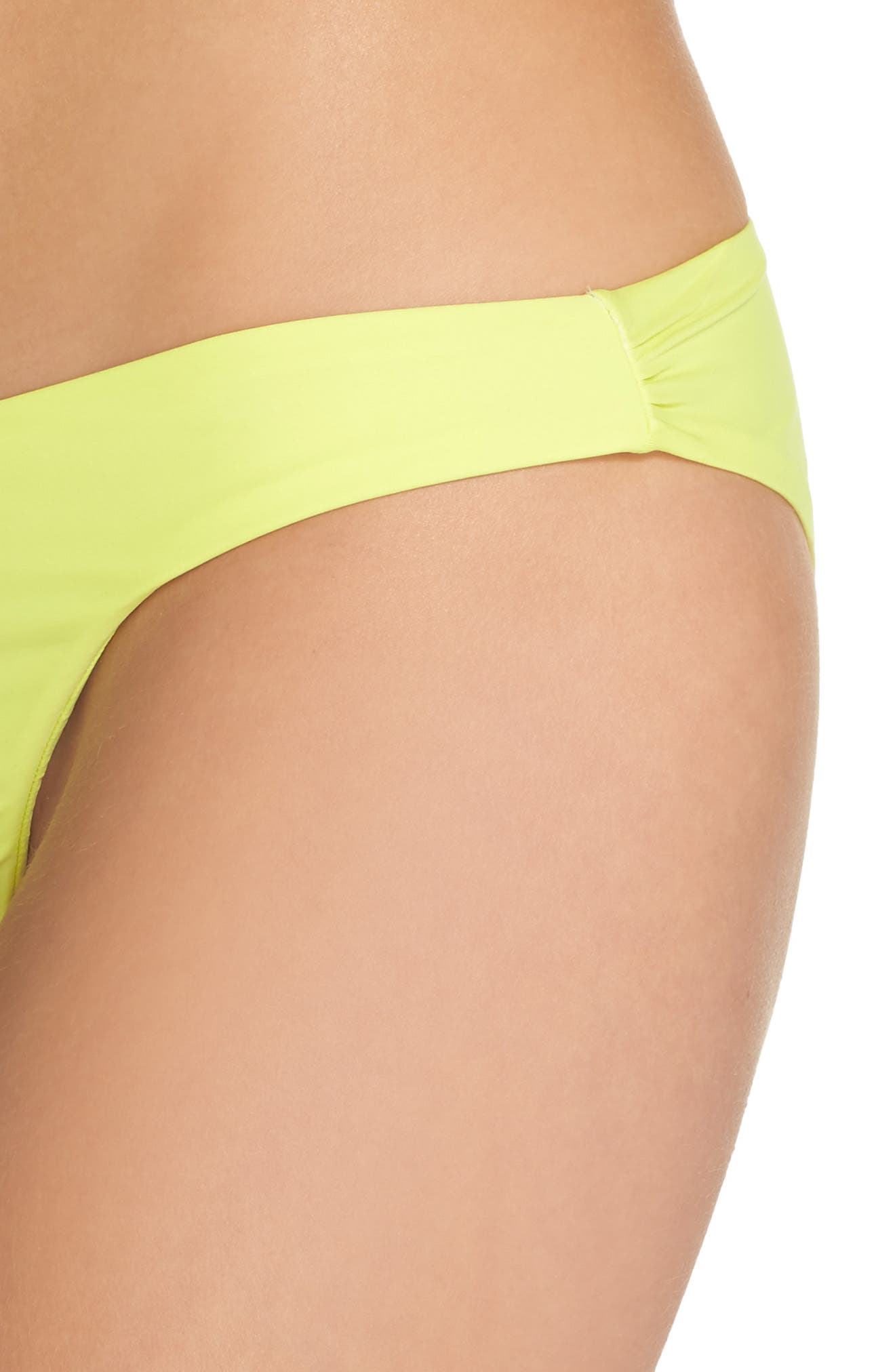Ruched Bikini Bottoms,                             Alternate thumbnail 4, color,                             Yellow