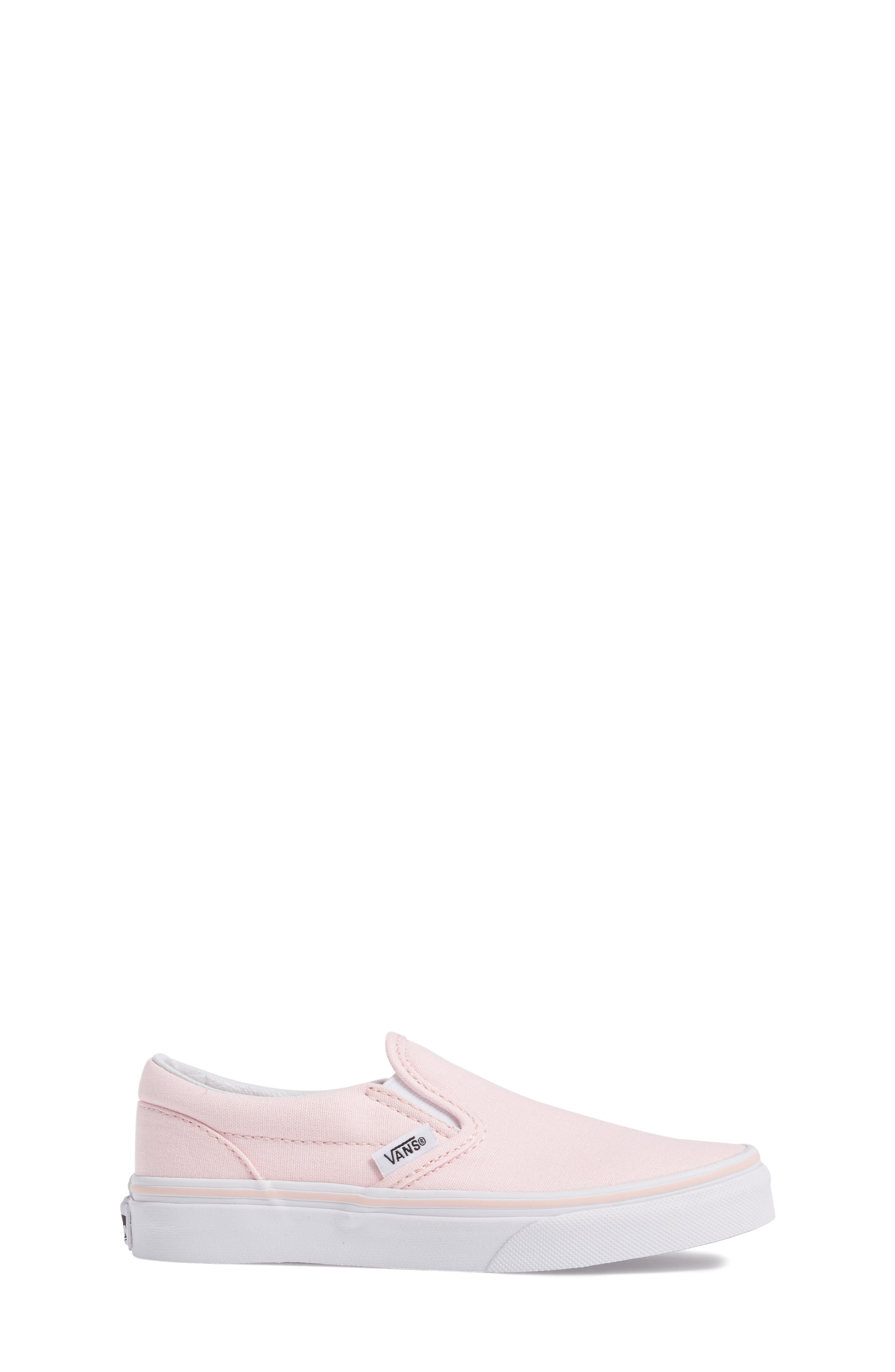 Classic Slip-On Sneaker,                             Alternate thumbnail 3, color,                             Ballerina/ True White