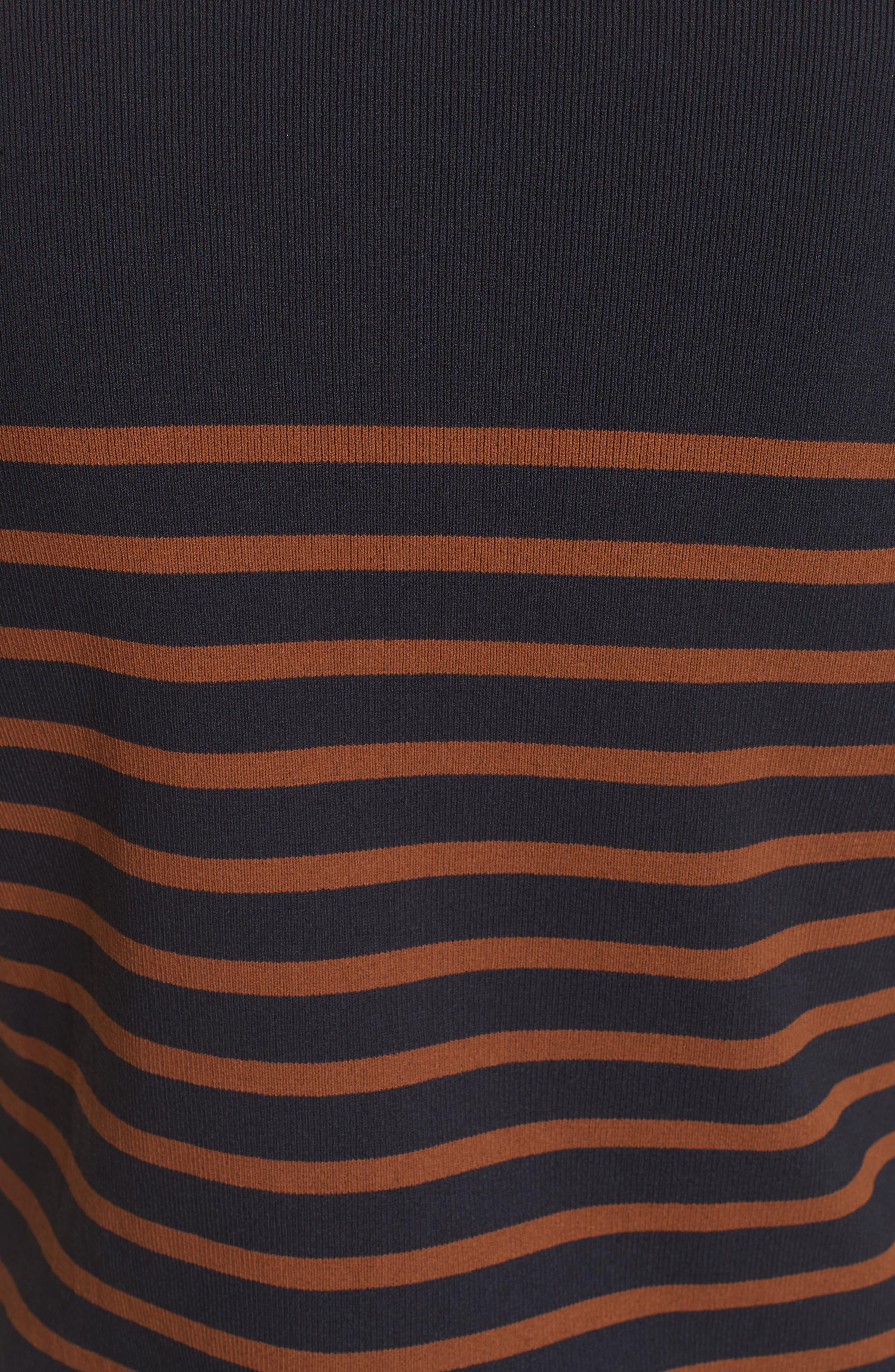 Selicia Stripe Sweater,                             Alternate thumbnail 3, color,                             Black