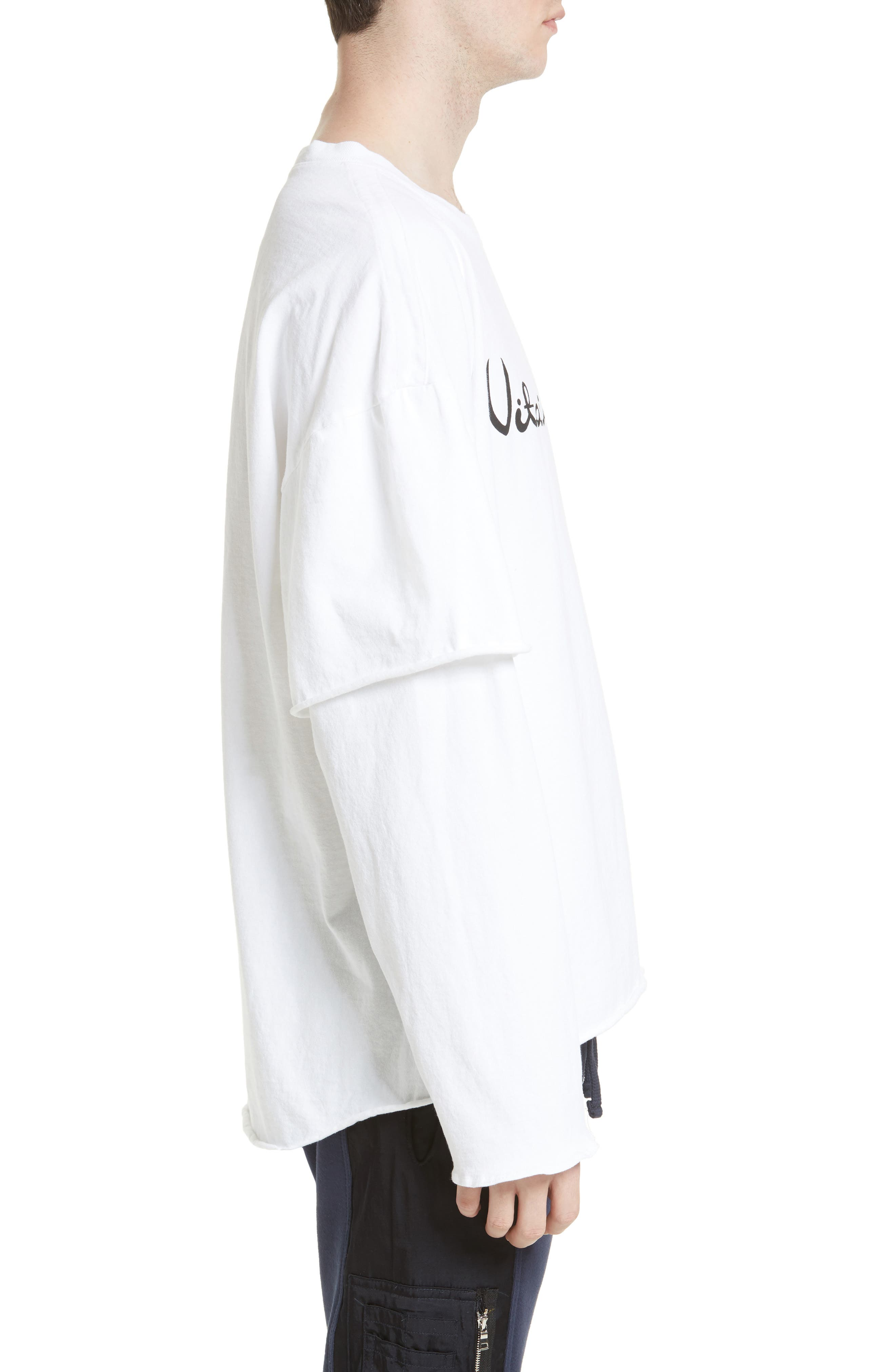Filius Vitamin D Graphic T-Shirt,                             Alternate thumbnail 3, color,                             White