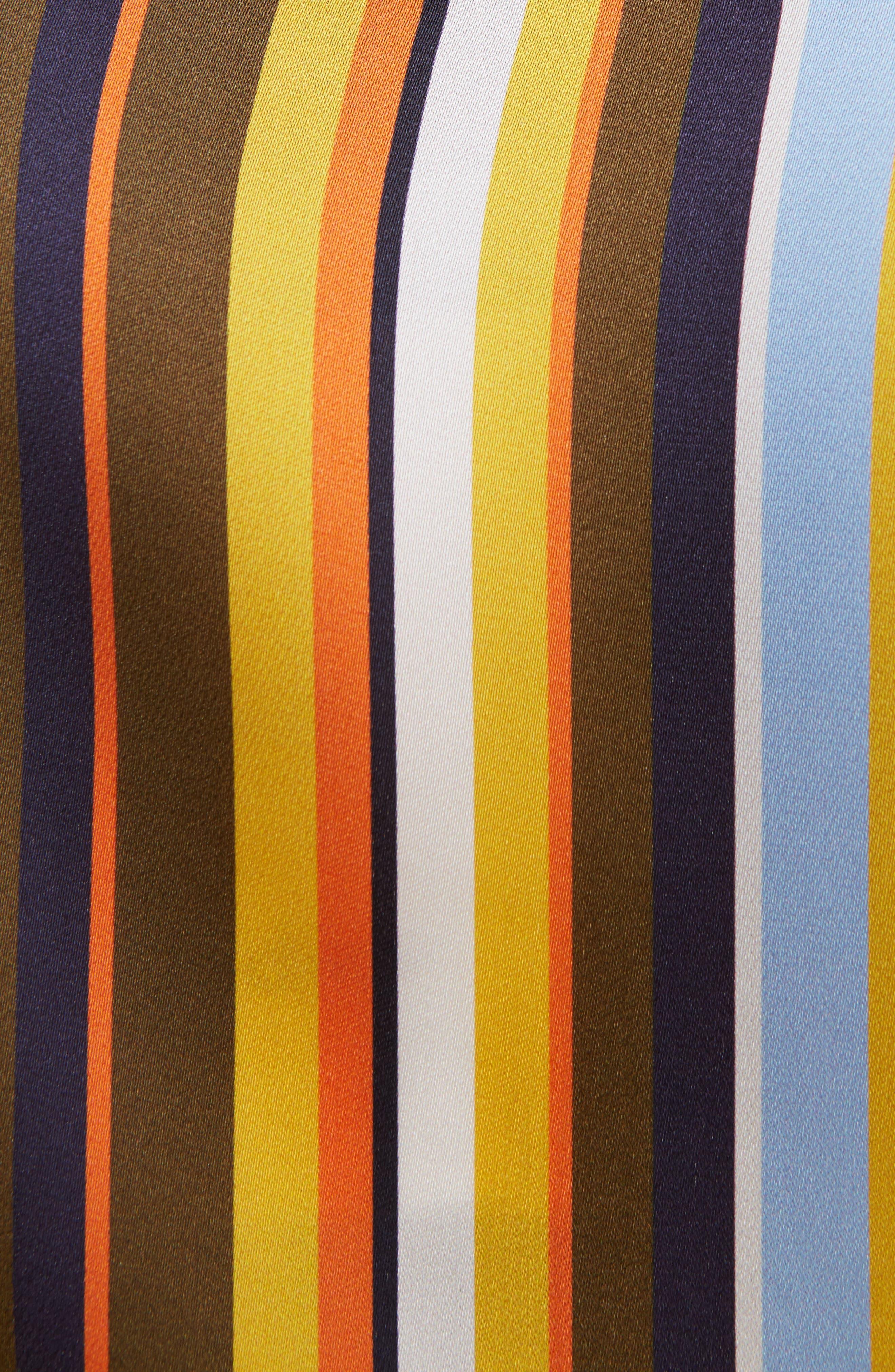Buse Multistripe Blouse,                             Alternate thumbnail 3, color,                             Multi Stripe Brown