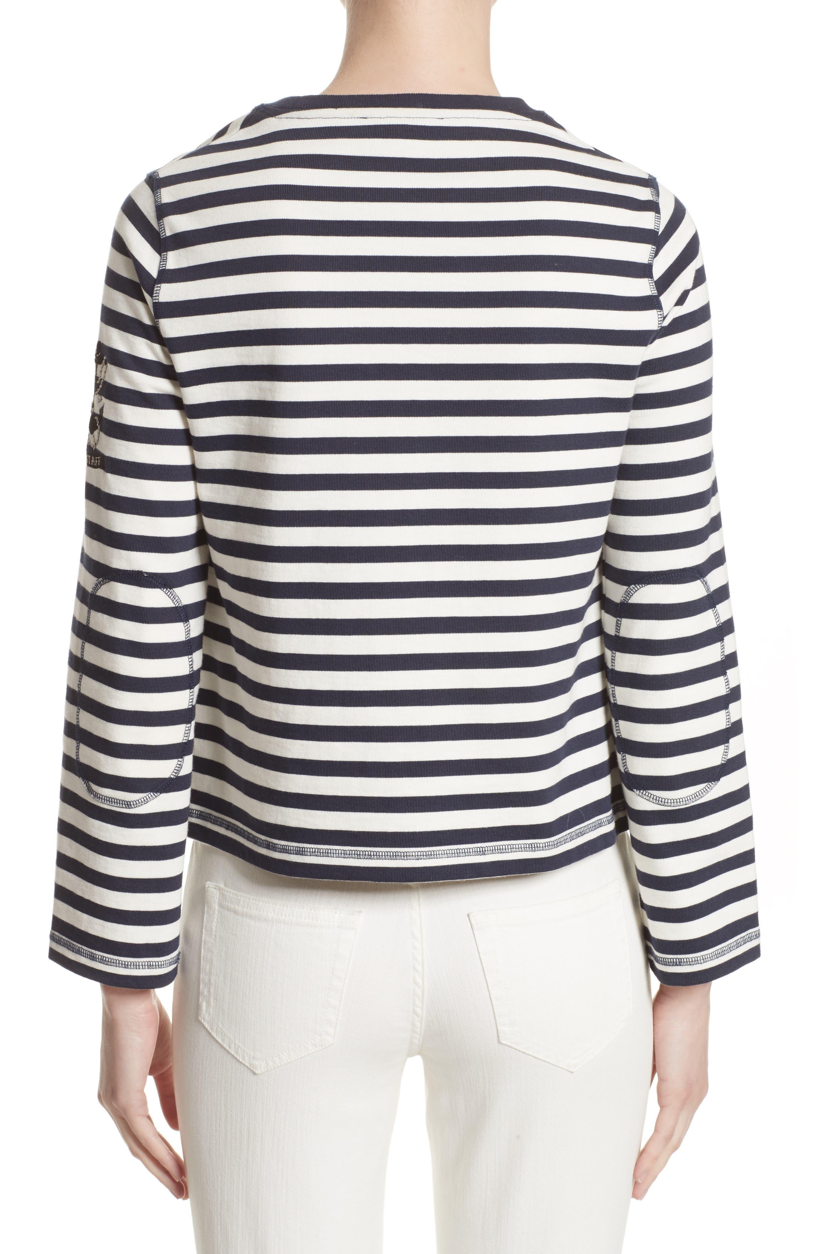 Alternate Image 2  - Belstaff Christina Stripe Cotton Sweater