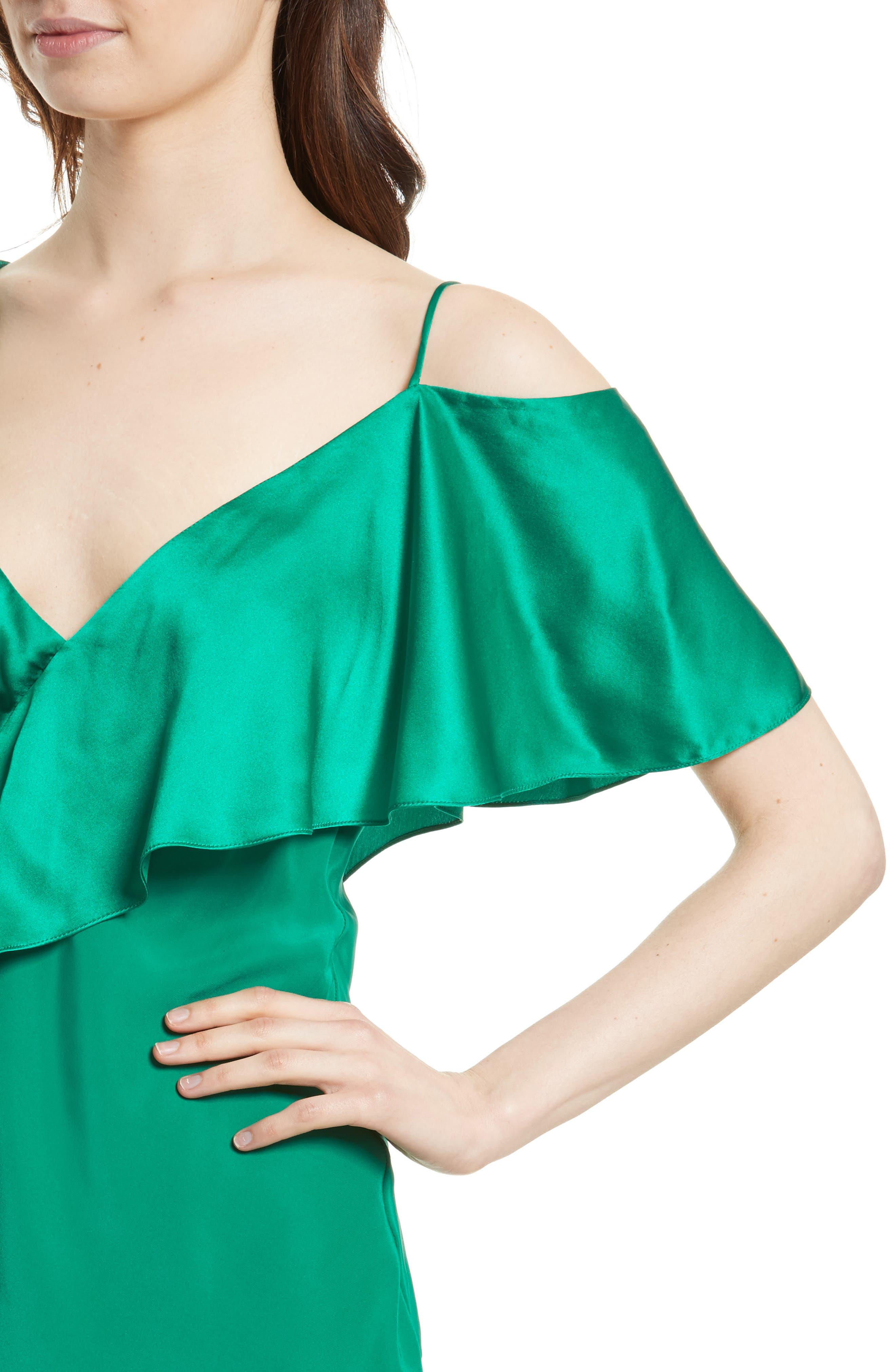 Alternate Image 4  - Diane von Furstenberg Asymmetrical Sleeve Ruffle Blouse