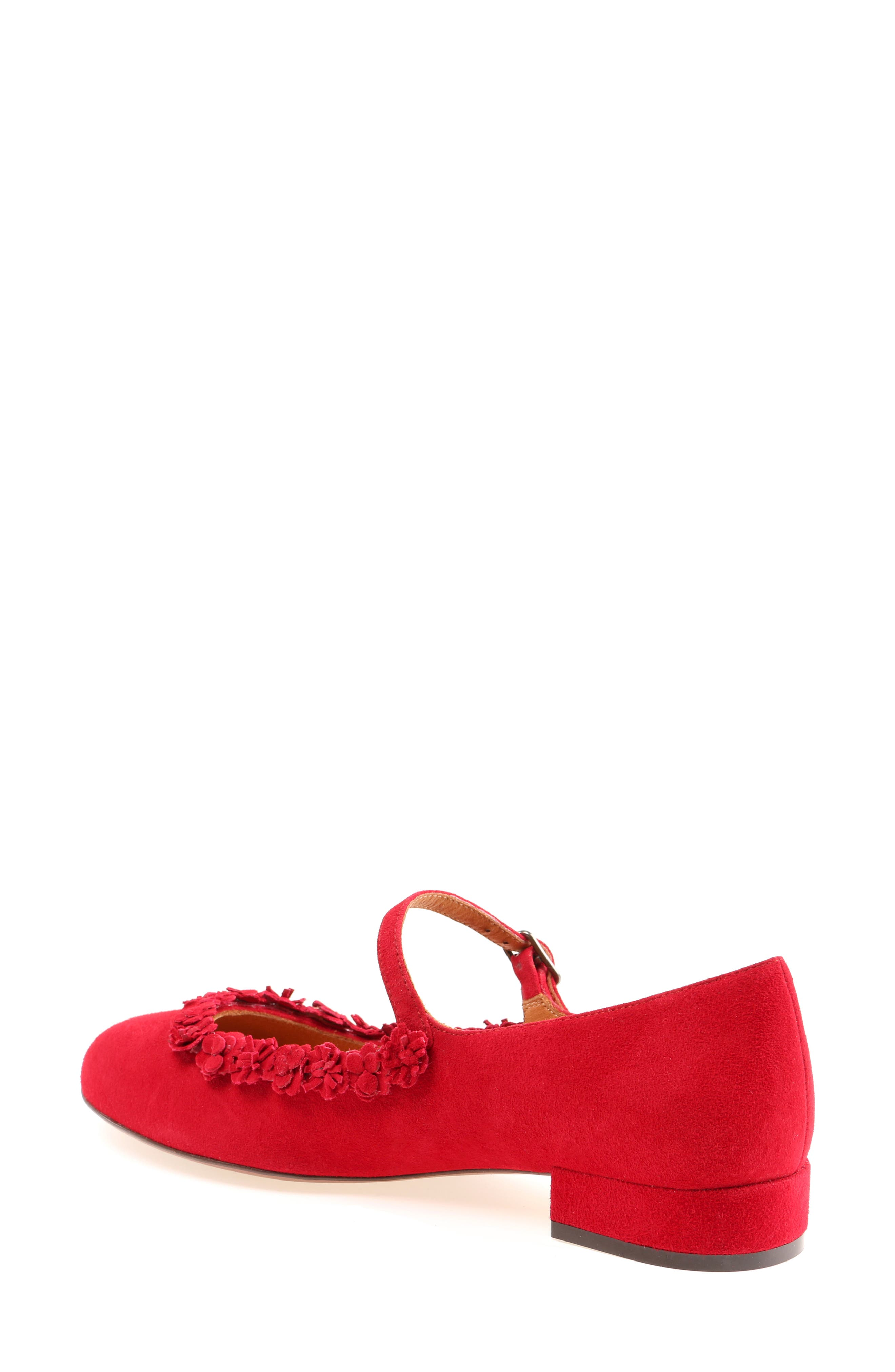 Rizo Mary Jane Flat,                             Alternate thumbnail 2, color,                             Red
