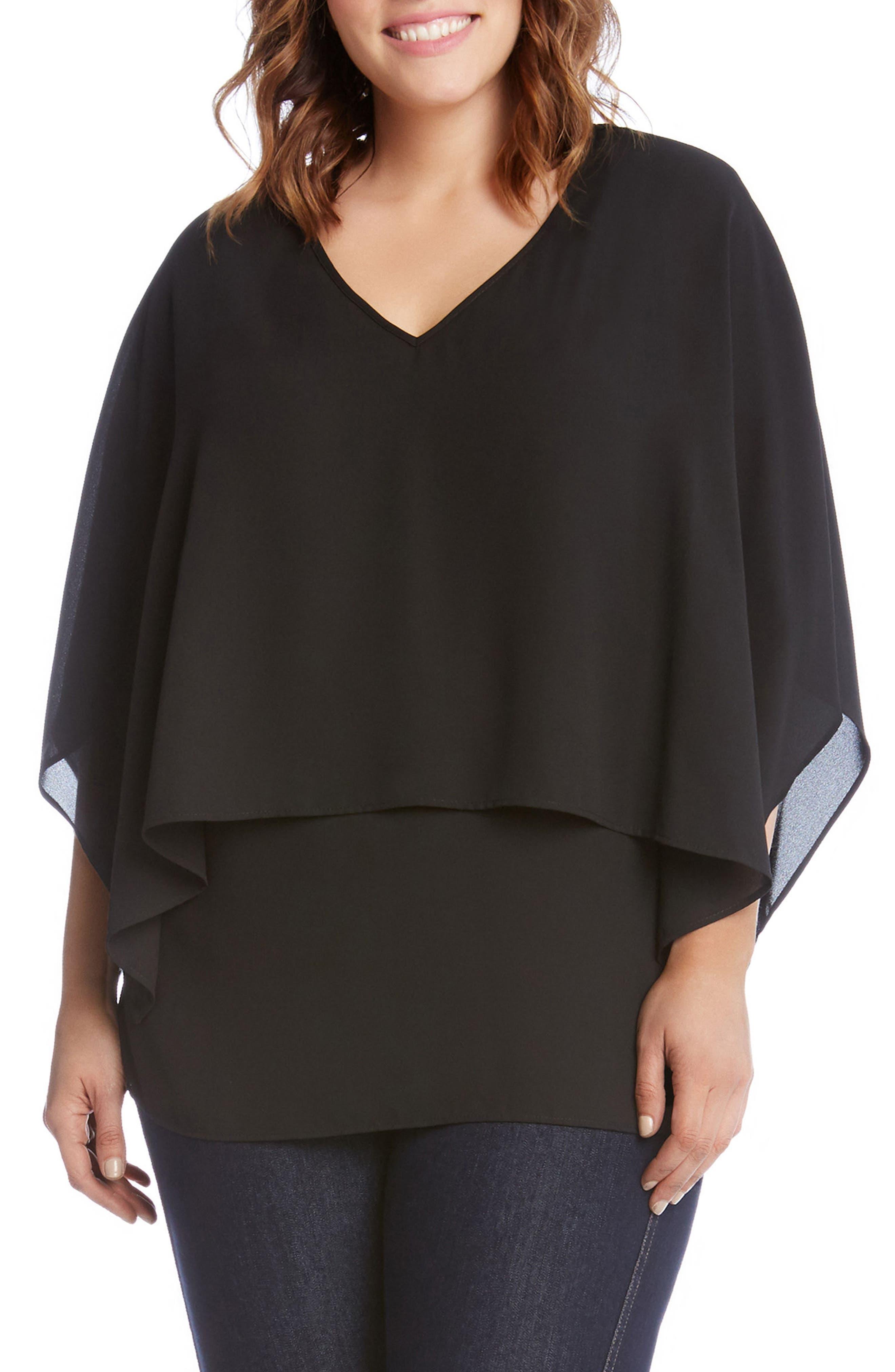 Karen Kane Double Layer Top (Plus Size)