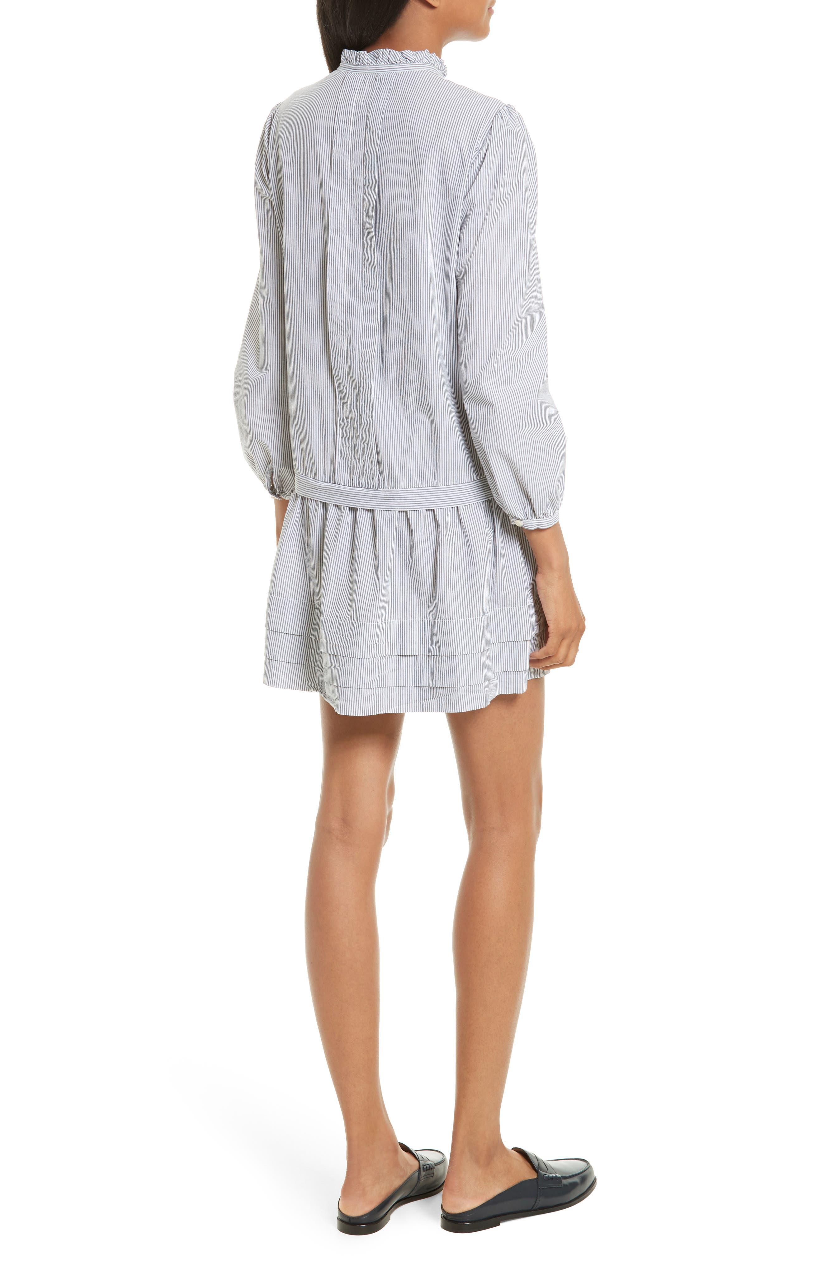 Cotton Shirtdress,                             Alternate thumbnail 2, color,                             Black/ Milk