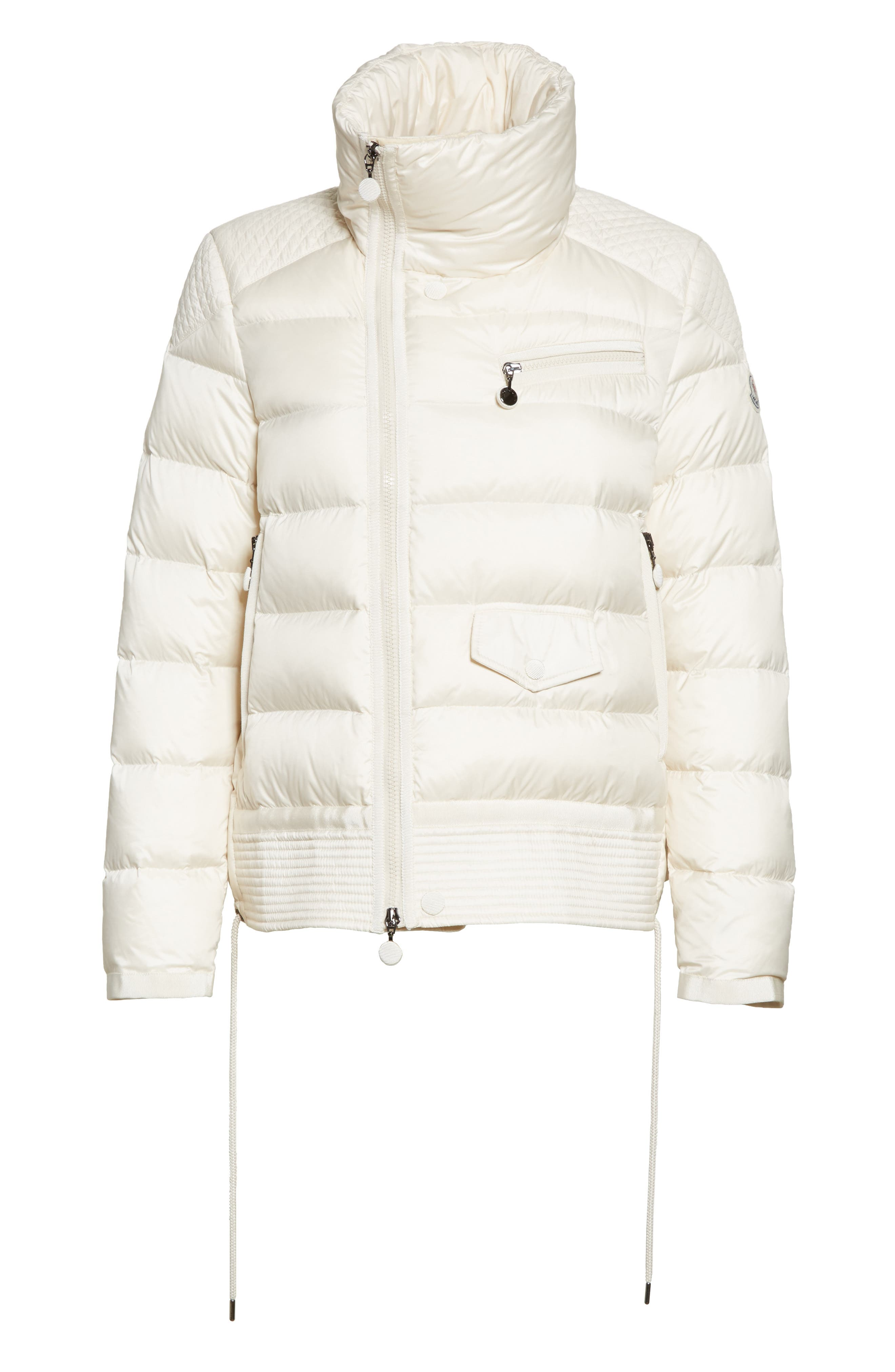 Margaret Down Puffer Jacket,                             Alternate thumbnail 7, color,                             Cream