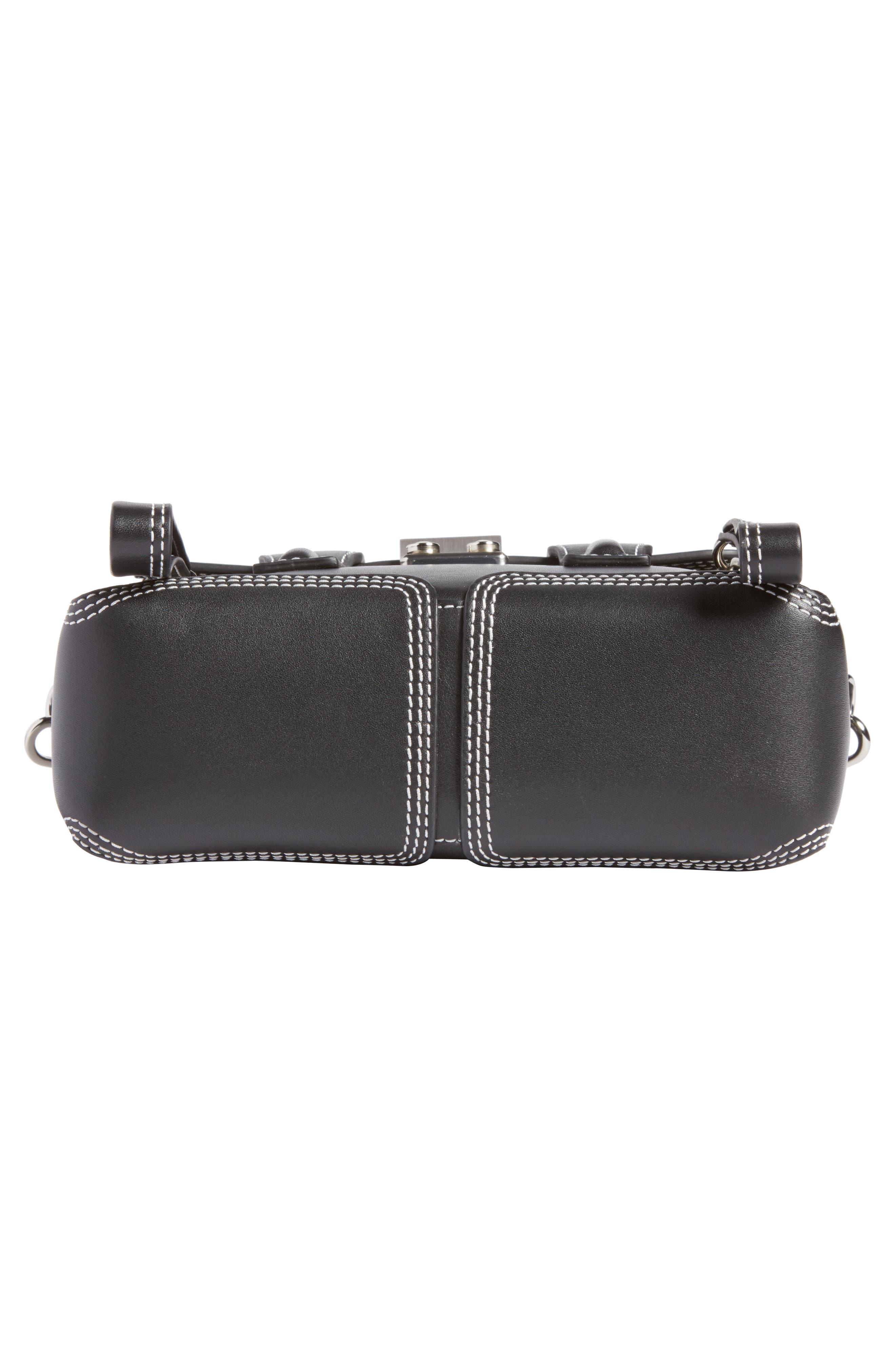 Mini Pashli Leather Satchel,                             Alternate thumbnail 5, color,                             Black
