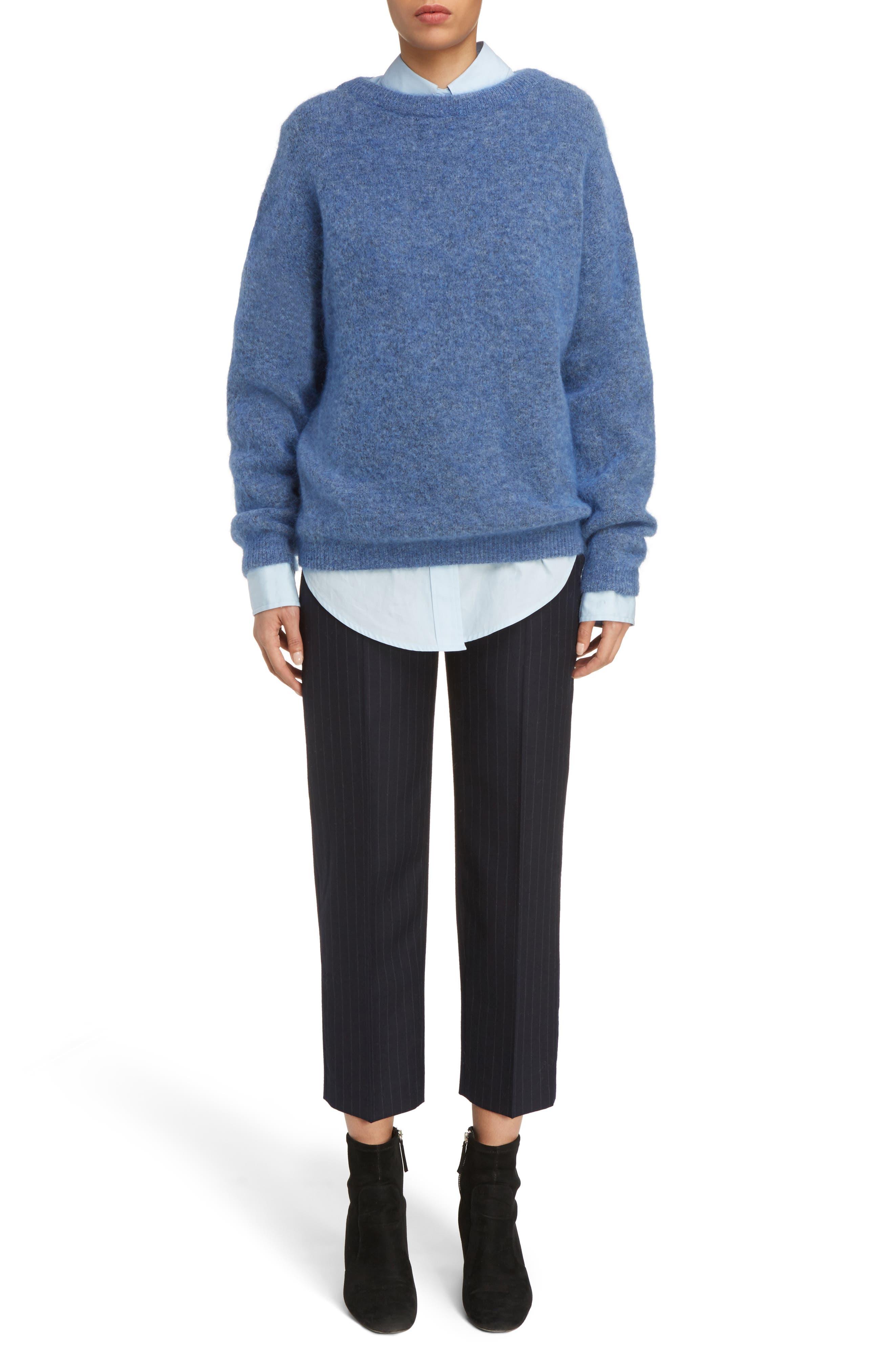 Alternate Image 6  - ACNE Studios Trea Pinstripe Straight Leg Wool Pants