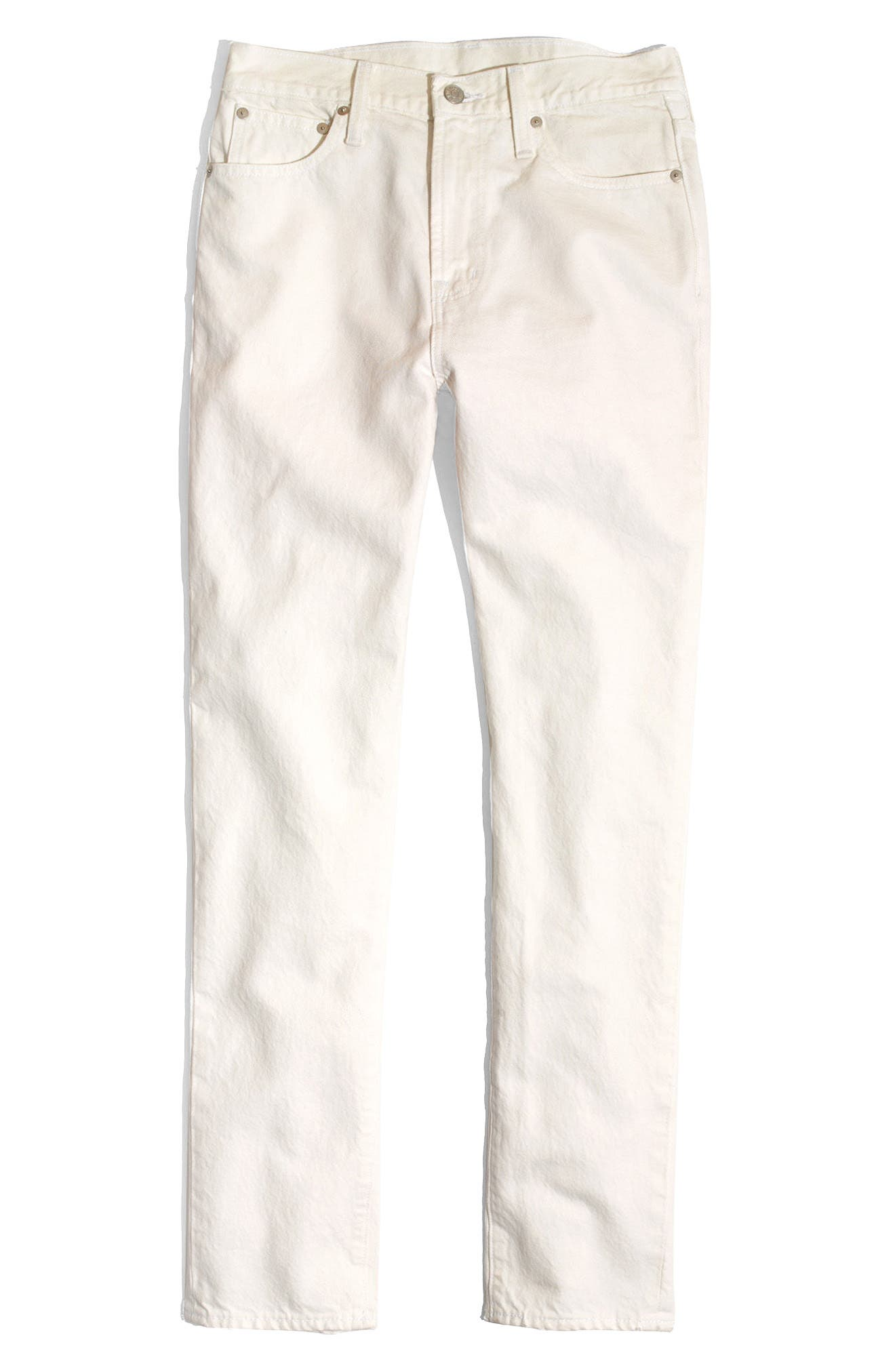 Alternate Image 4  - Madewell Perfect Summer High Waist Ankle Jeans (Tile White)