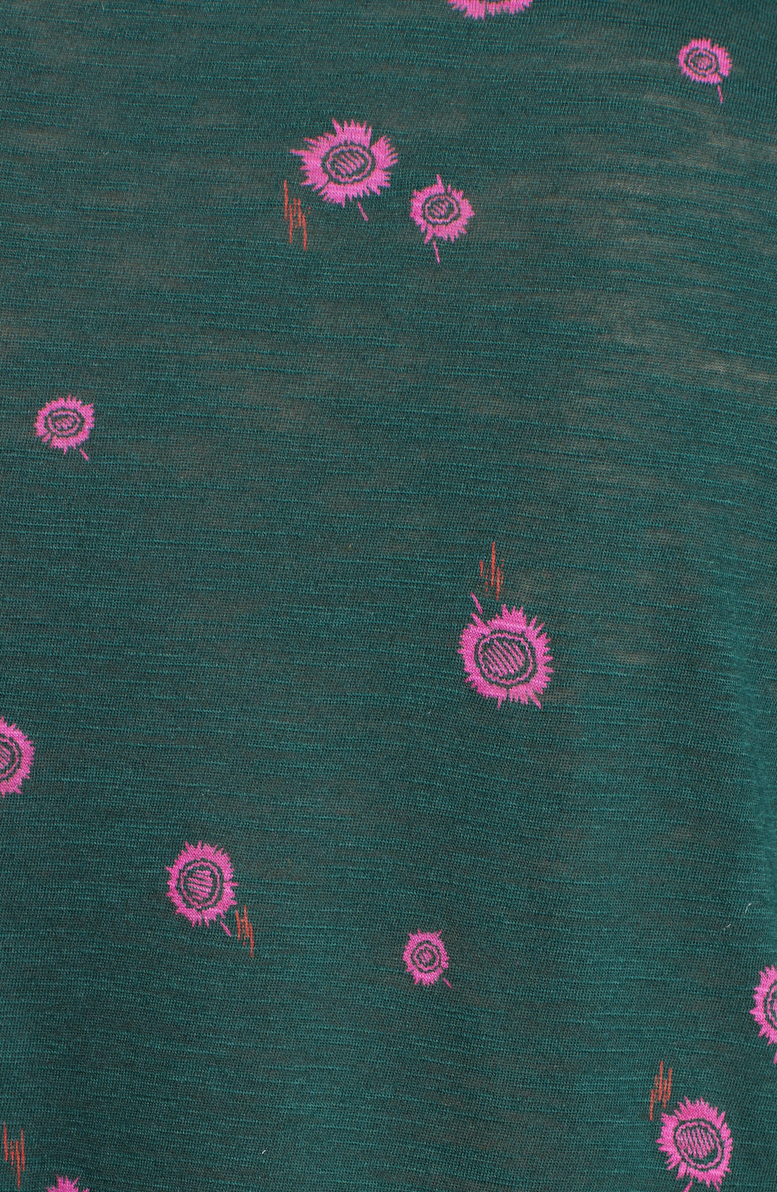 Asymmetrical Peplum Tee,                             Alternate thumbnail 3, color,                             Deep Pine/ Electric Pink
