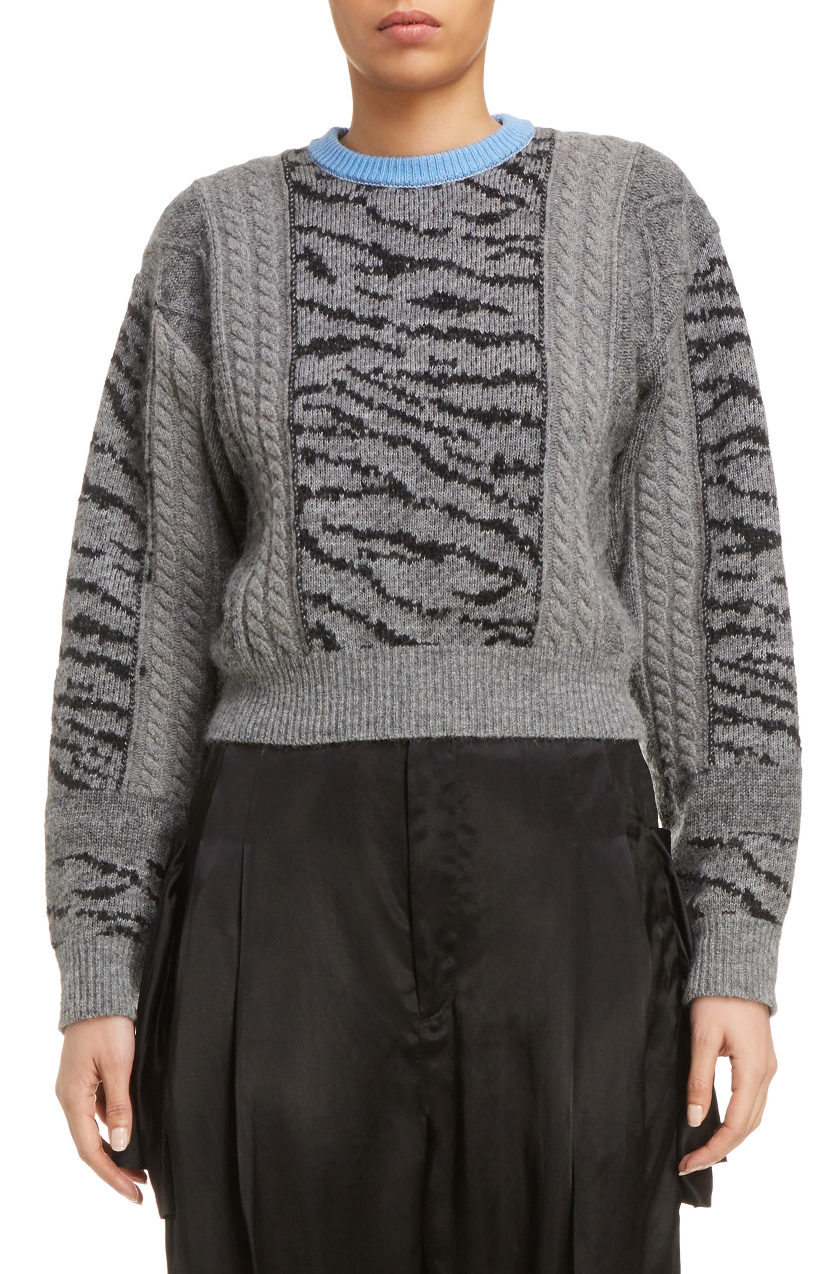 TOGA Tiger Jacquard Knit Sweater