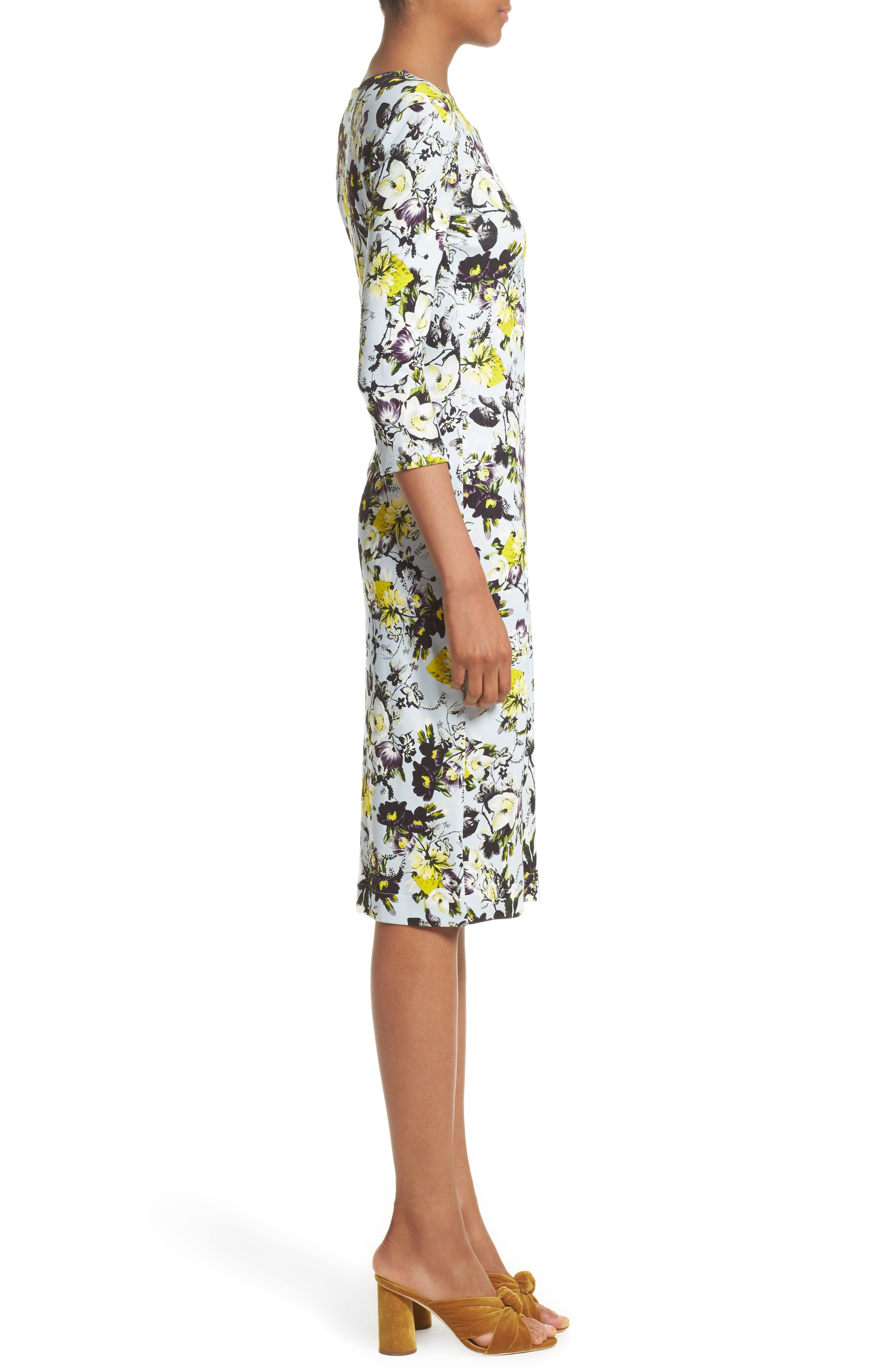 Alternate Image 5  - Erdem Floral Jersey Sheath Dress
