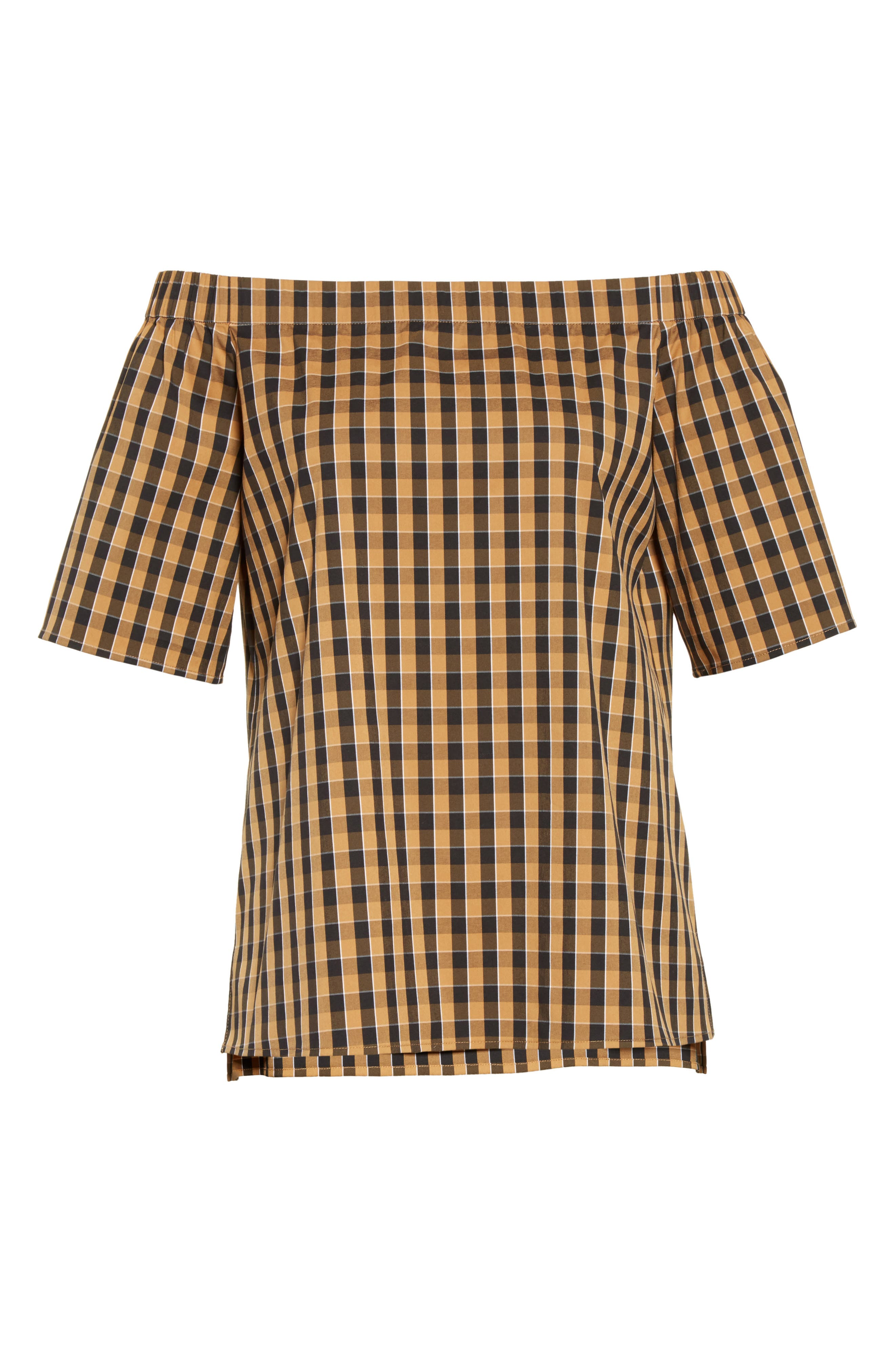 Alternate Image 4  - Lafayette 148 New York Livvy Neo Classic Check Blouse
