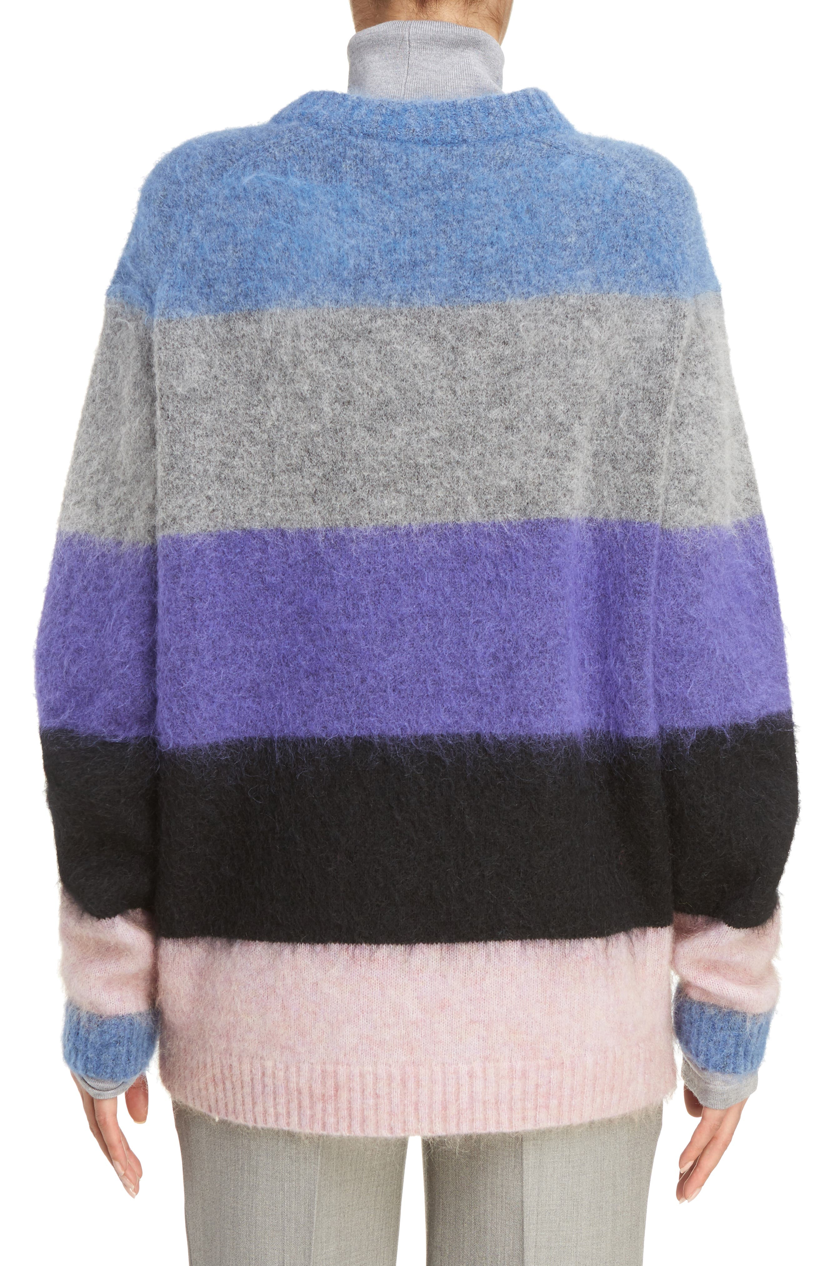 Alternate Image 2  - ACNE Studios Albah Multistripe Oversize Sweater
