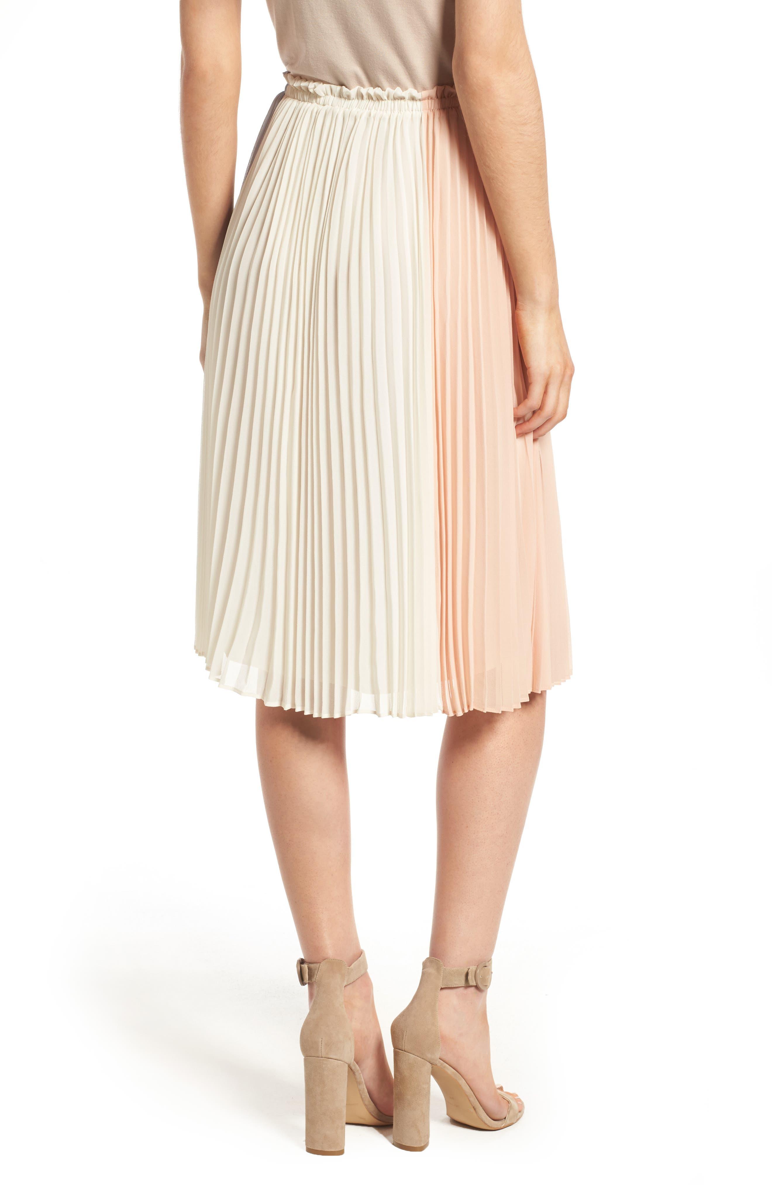Alternate Image 2  - June & Hudson Colorblock Pleat Skirt