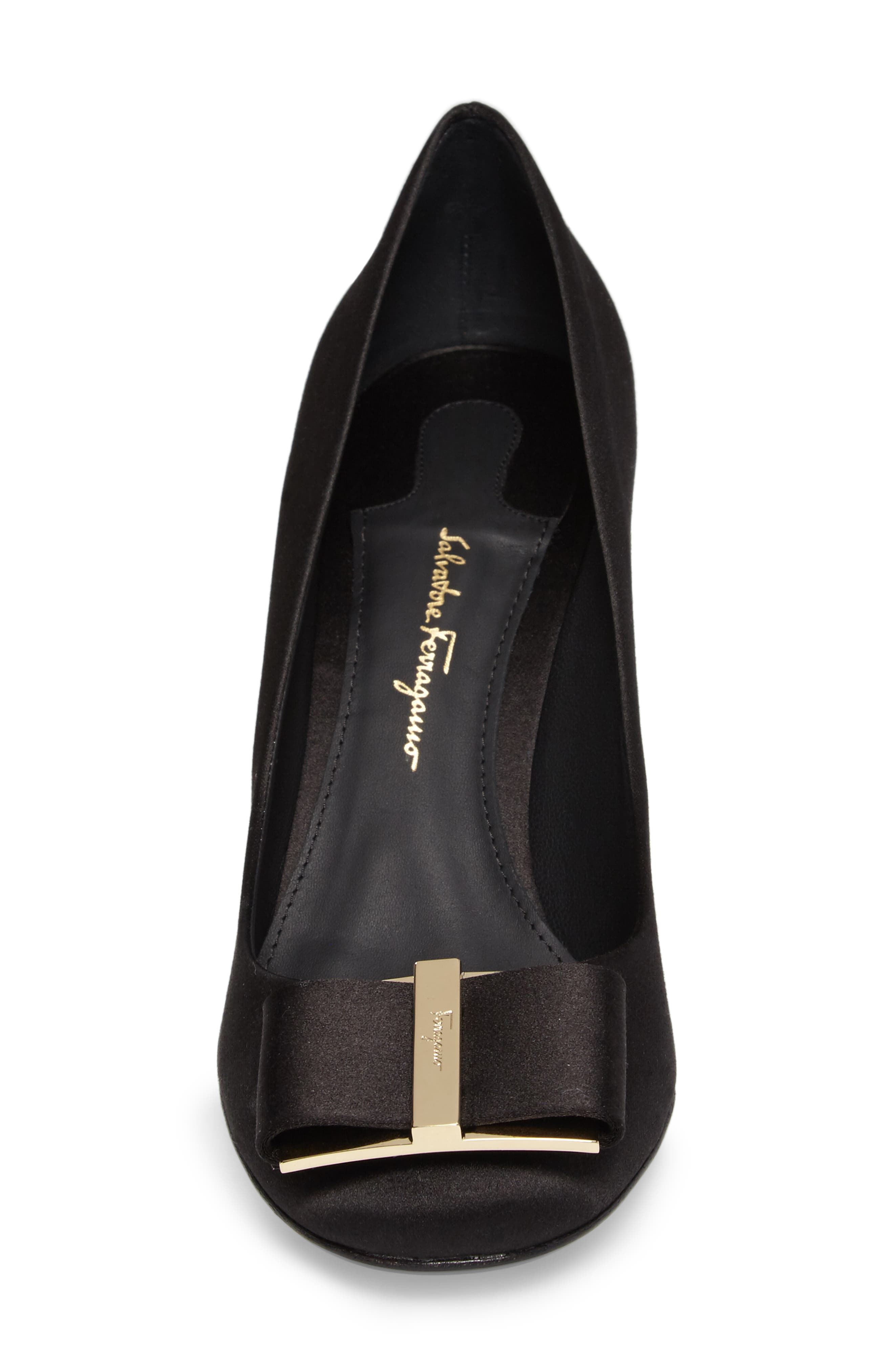 Alternate Image 4  - Salvatore Ferragamo Flower Heel Bow Pump (Women)