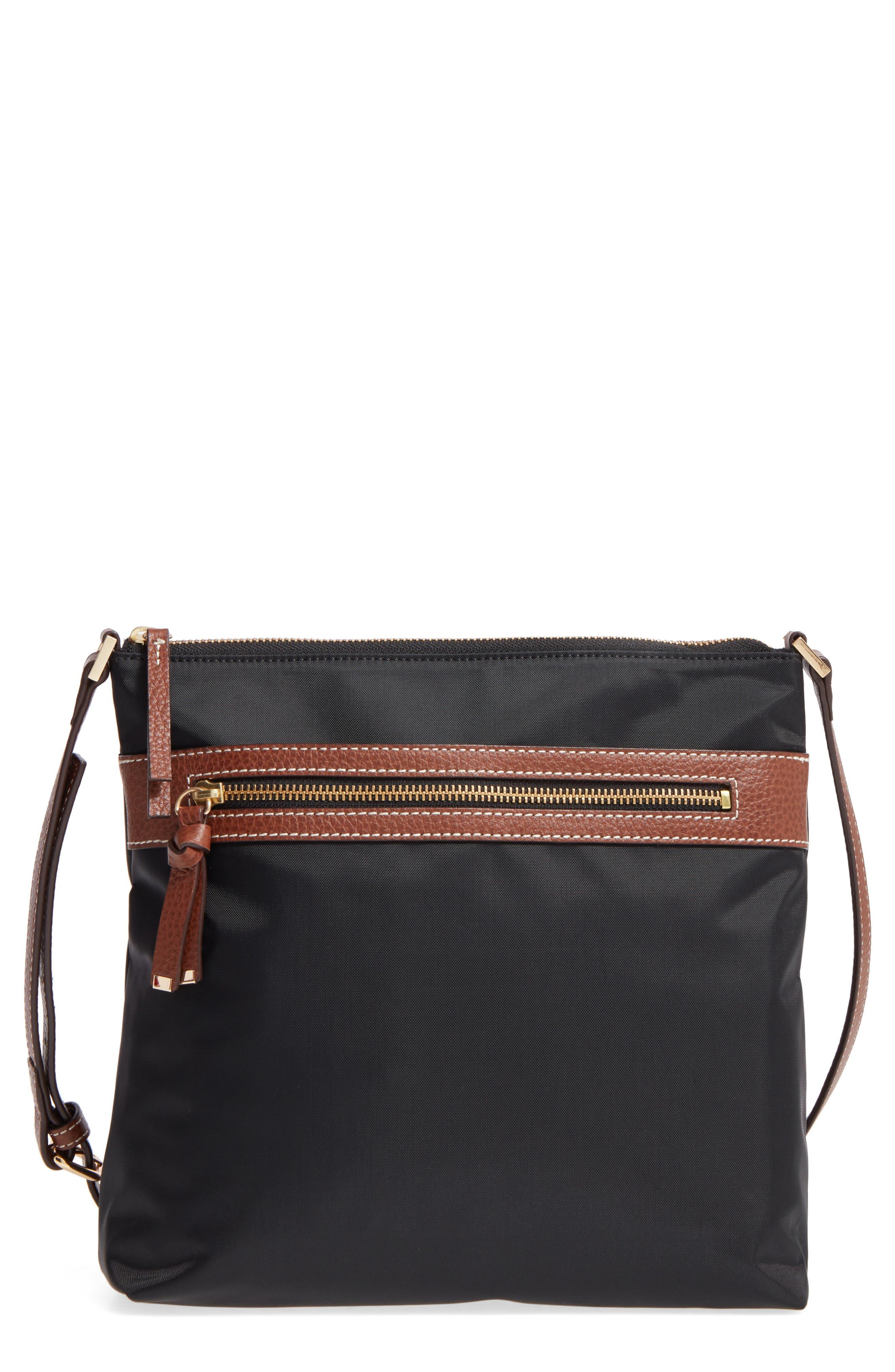 HALOGEN<SUP>®</SUP> Halogen Nylon Crossbody Bag