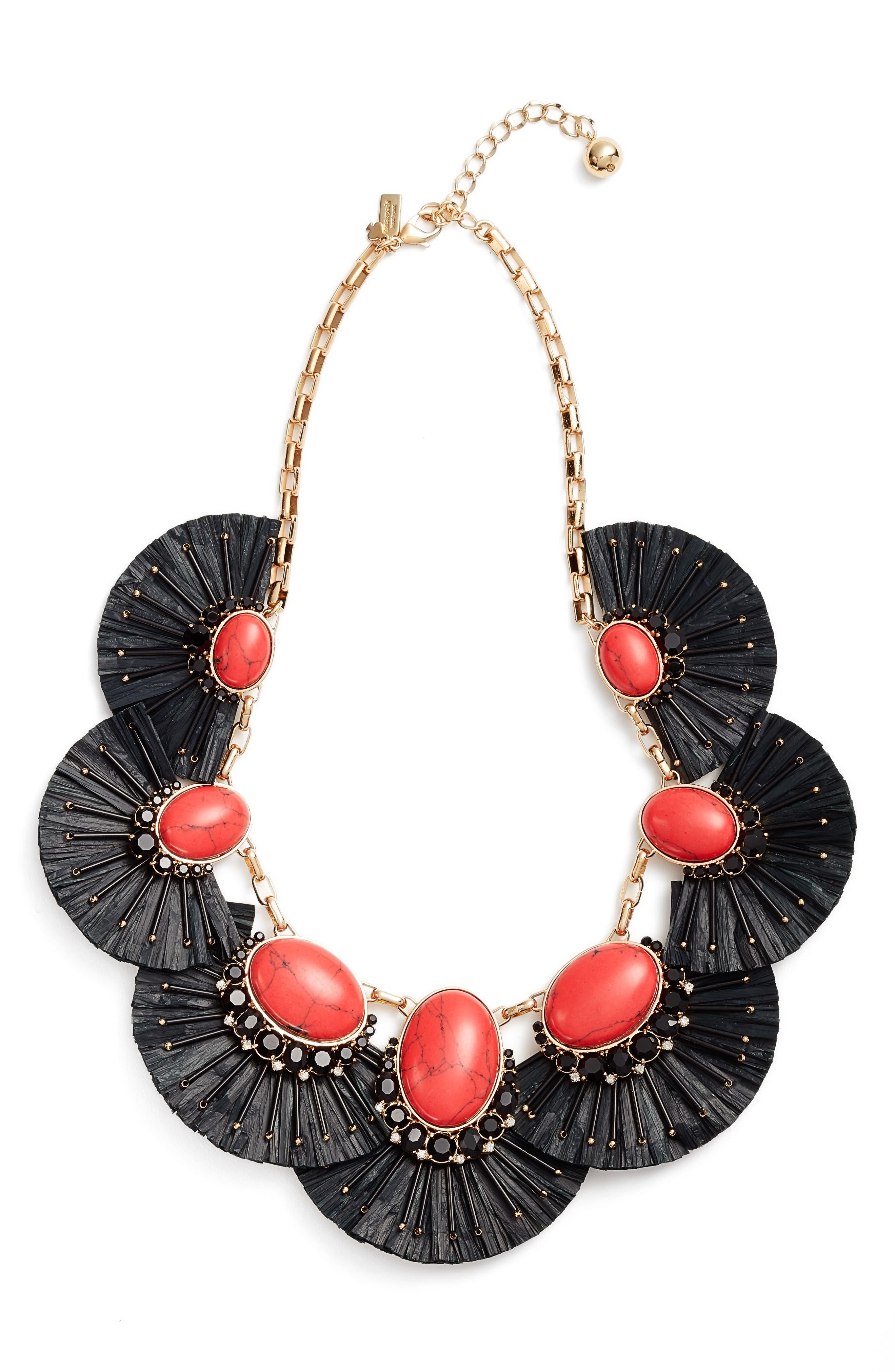 KATE SPADE NEW YORK fiesta fringe statement necklace