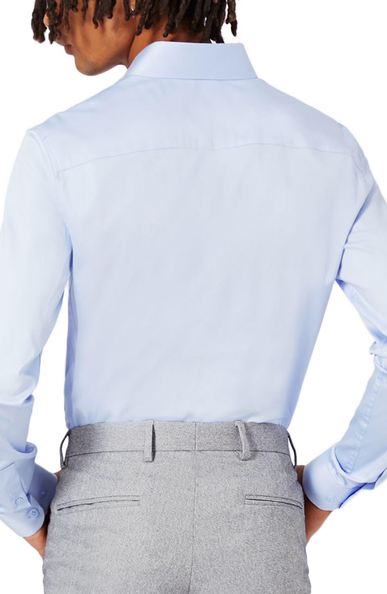 Alternate Image 4  - Topman Stretch Cotton Shirt
