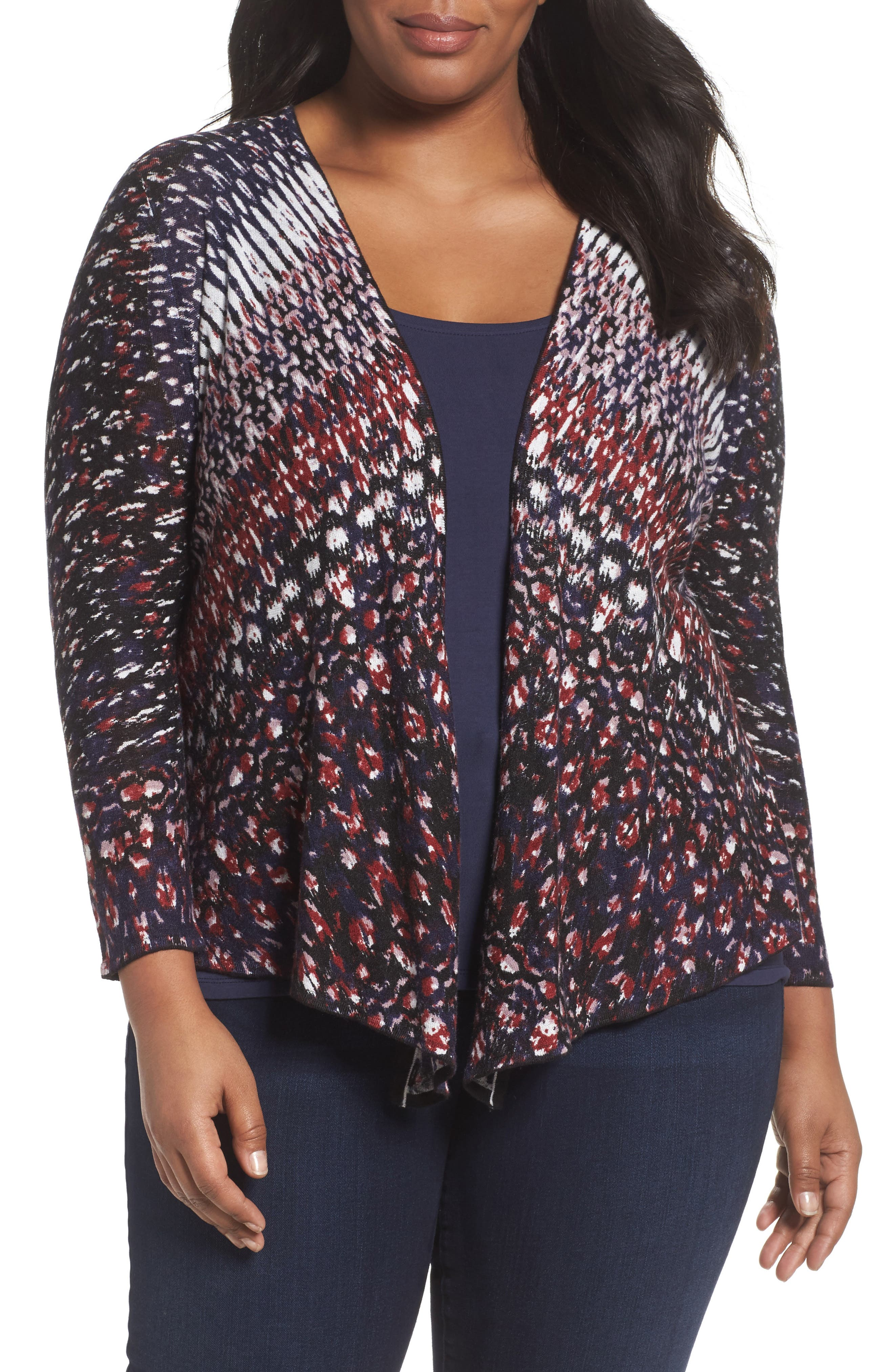 Alternate Image 1 Selected - NIC+ZOE Grace 4-Way Convertible Cardigan (Plus Size)