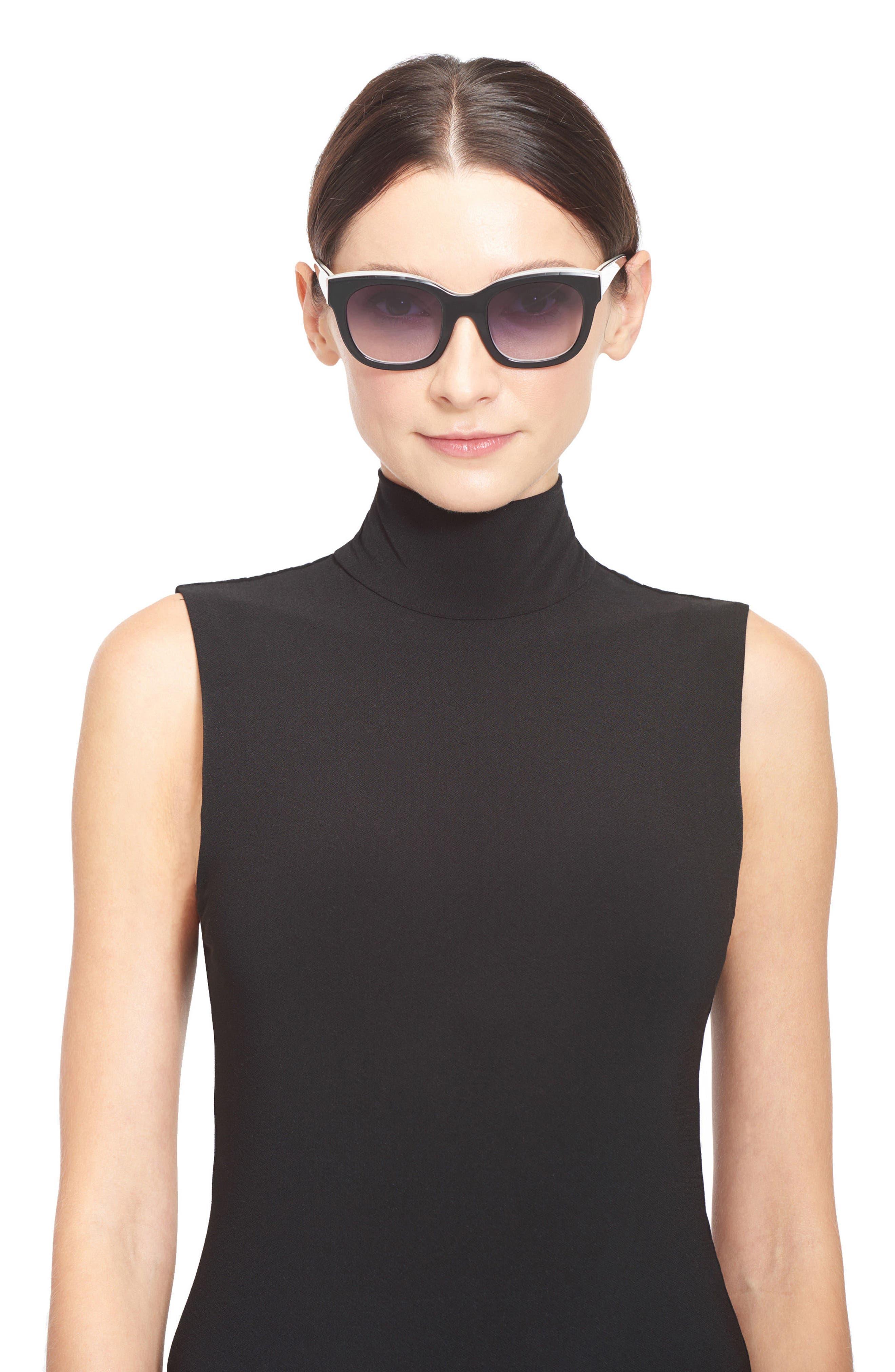 Alternate Image 3  - Alice + Olivia Victoria 50mm Cat Eye Sunglasses