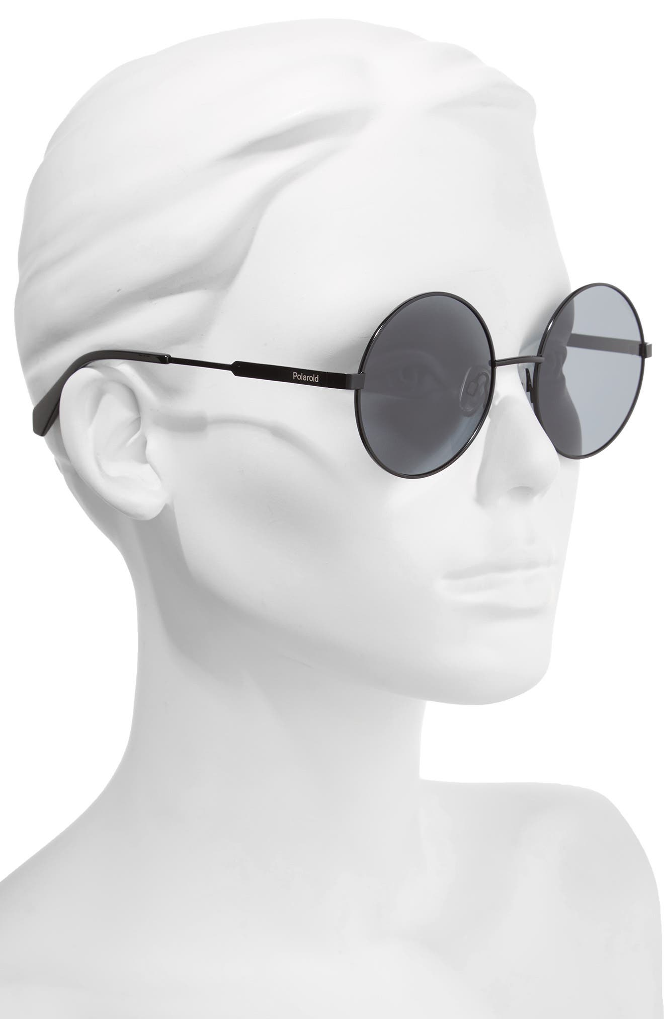Alternate Image 2  - Polaroid 55mm Polarized Round Sunglasses