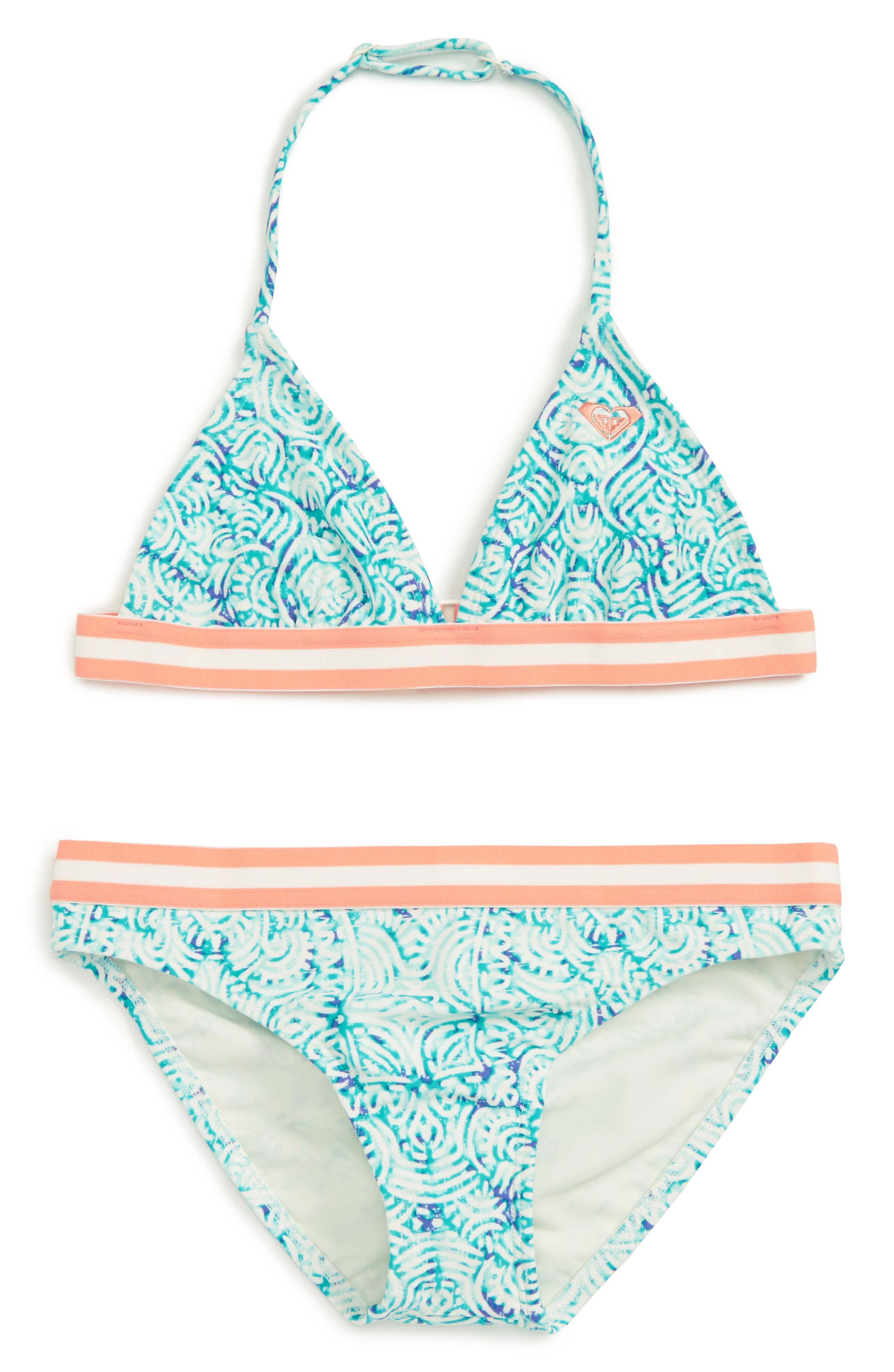Roxy Caribbean Days Two Piece Swimsuit (Big Girls)