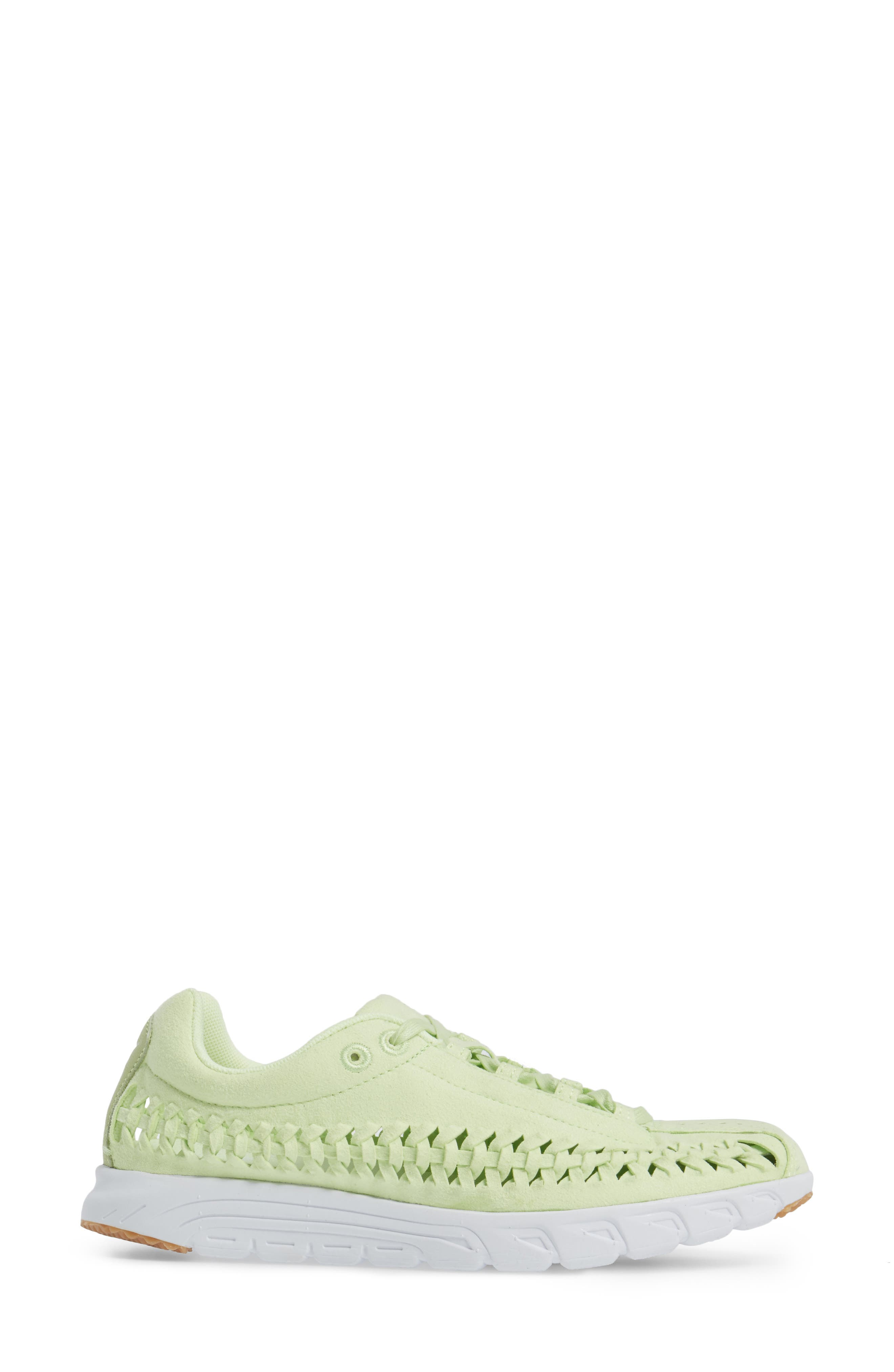 Mayfly Woven QS Sneaker,                             Alternate thumbnail 3, color,                             Liquid Lime/ Liquid Lime