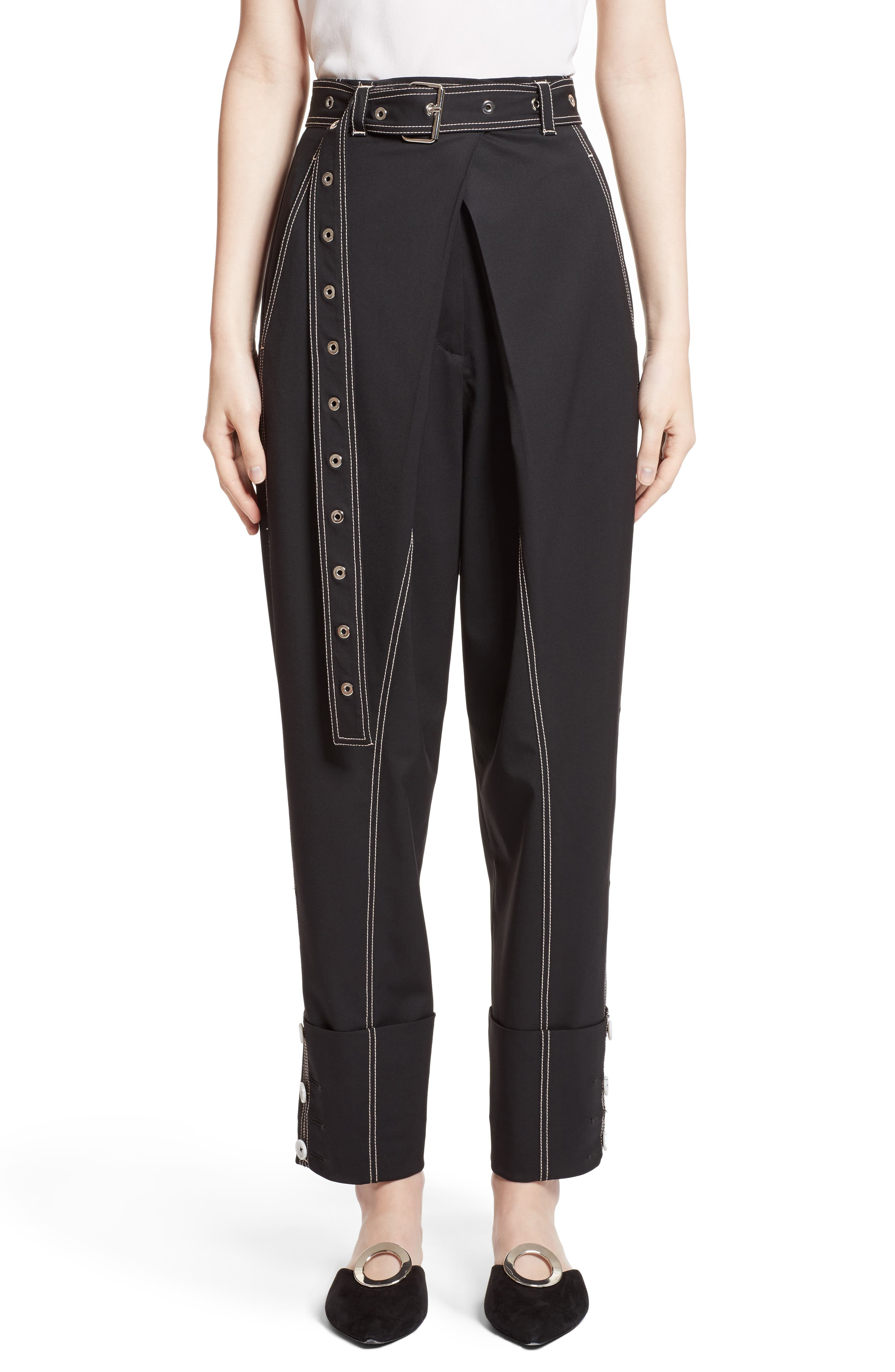 Alternate Image 1 Selected - Proenza Schouler Cuff Straight Leg Pants