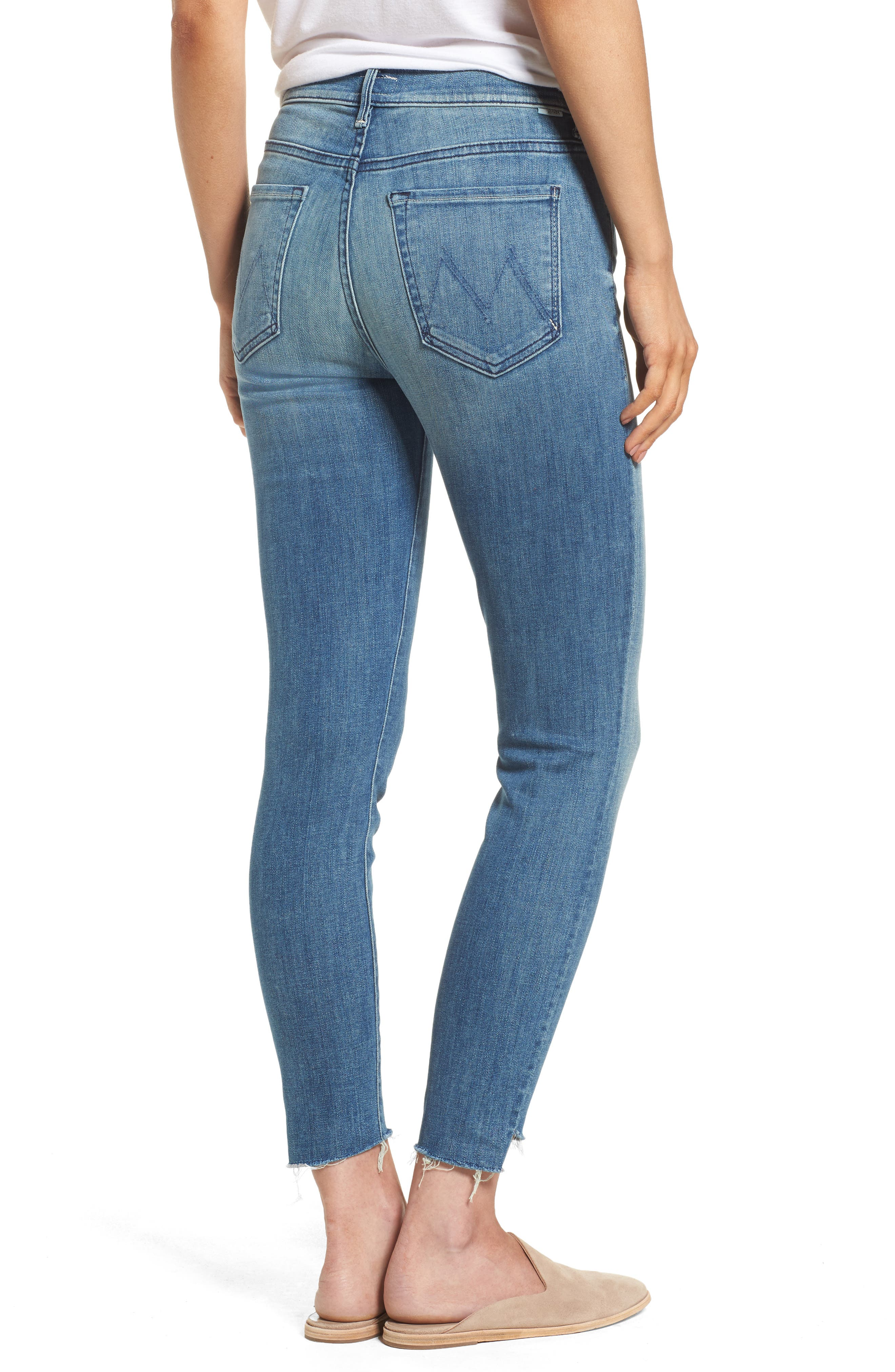 Alternate Image 2  - MOTHER The Stunner High Rise Ankle Fray Jeans (Good Girls Do)
