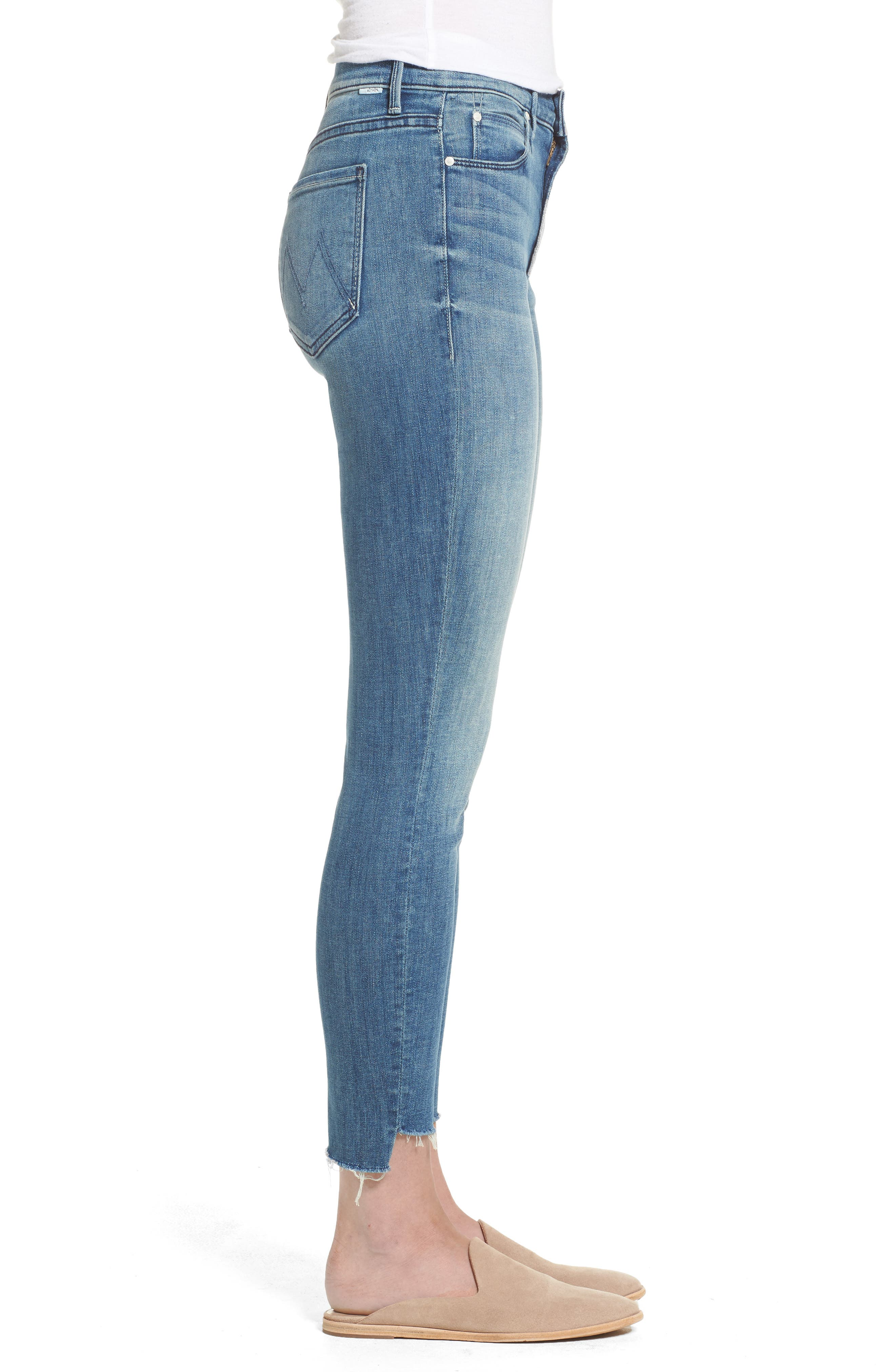 Alternate Image 3  - MOTHER The Stunner High Rise Ankle Fray Jeans (Good Girls Do)
