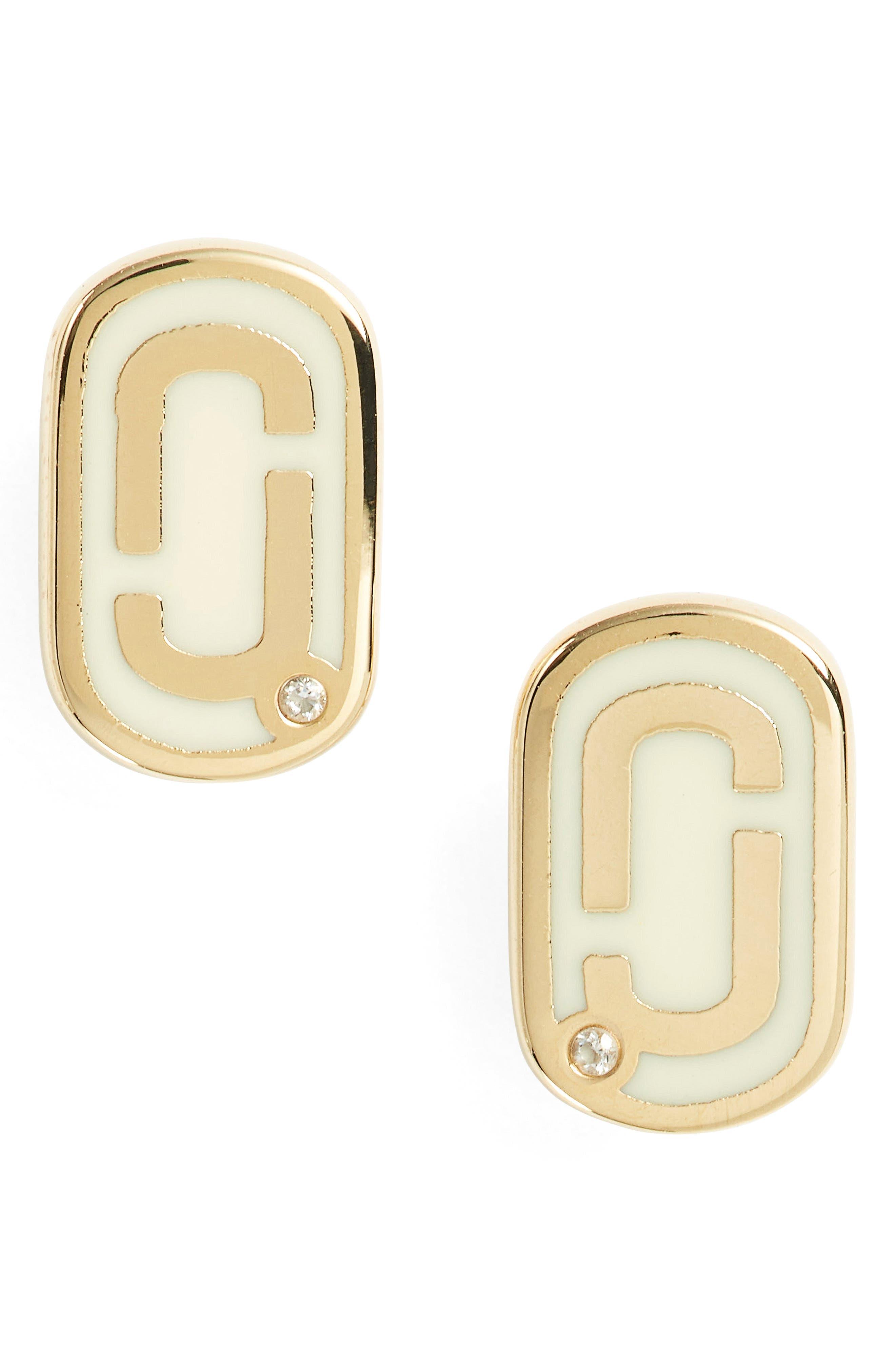 MARC JACOBS Icon Enamel Stud Earrings