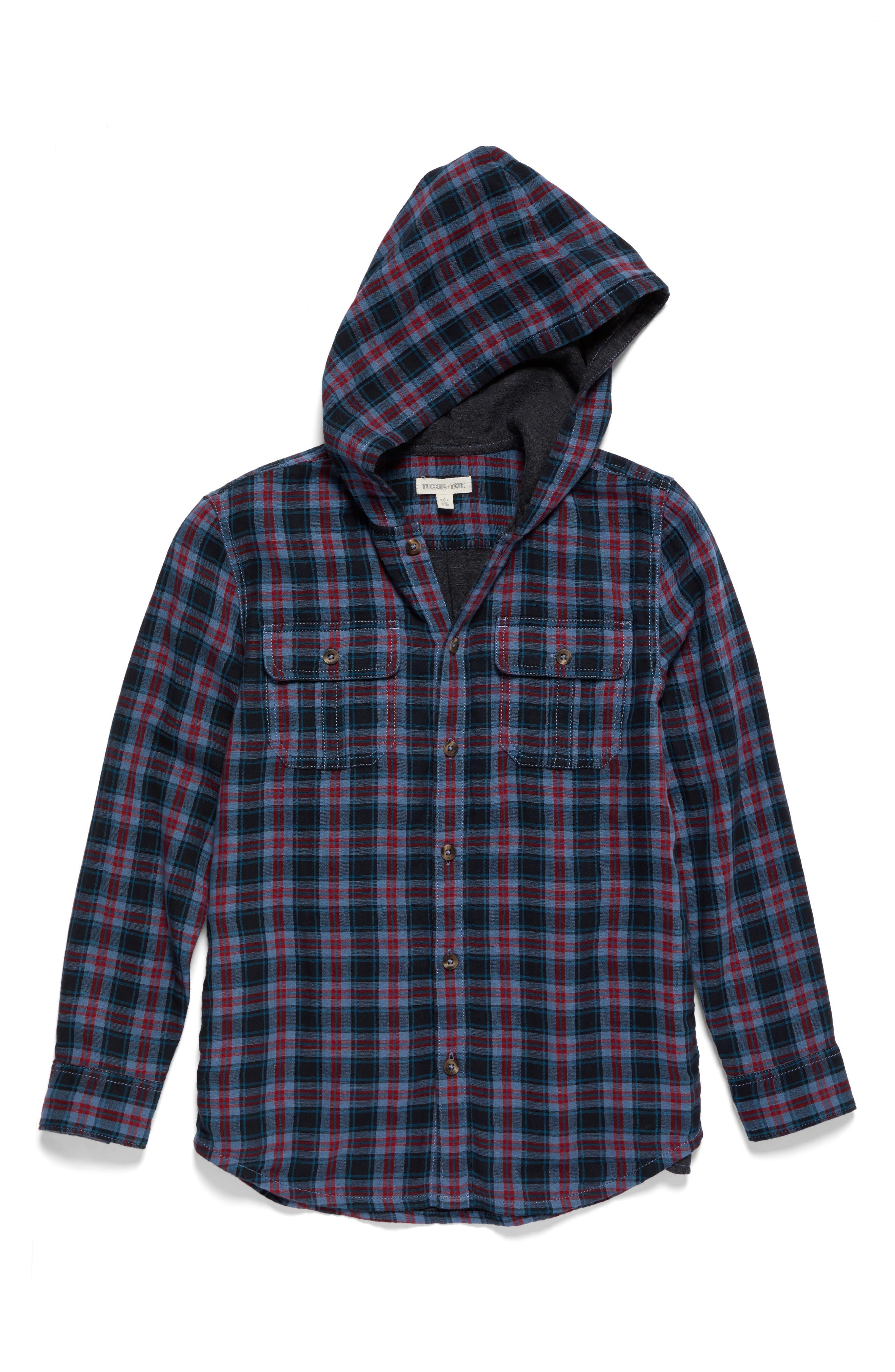 Tucker + Tate Hooded Woven Shirt (Big Boys)