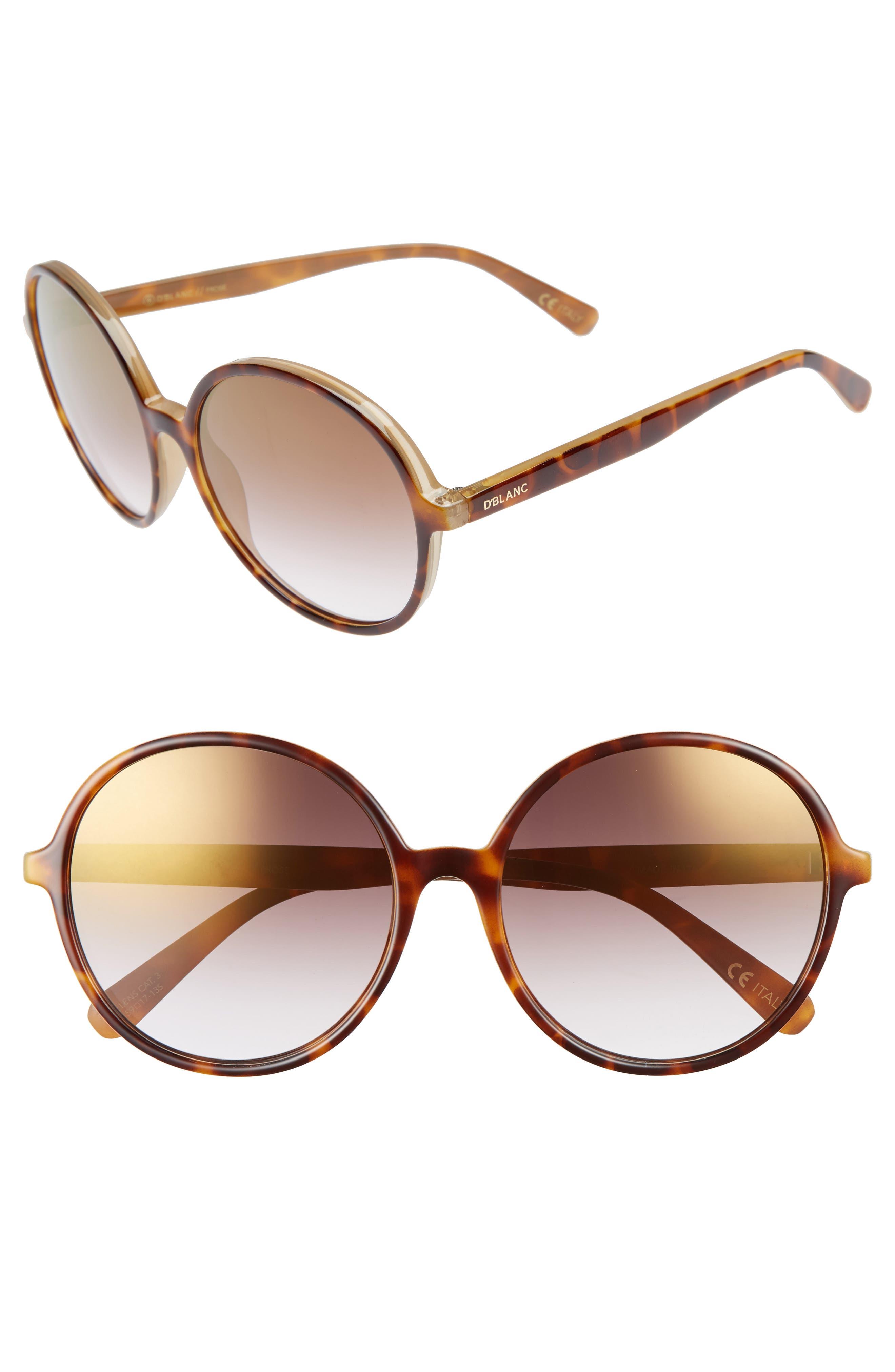 DBLANC DBLANC Prose 59mm Round Sunglasses