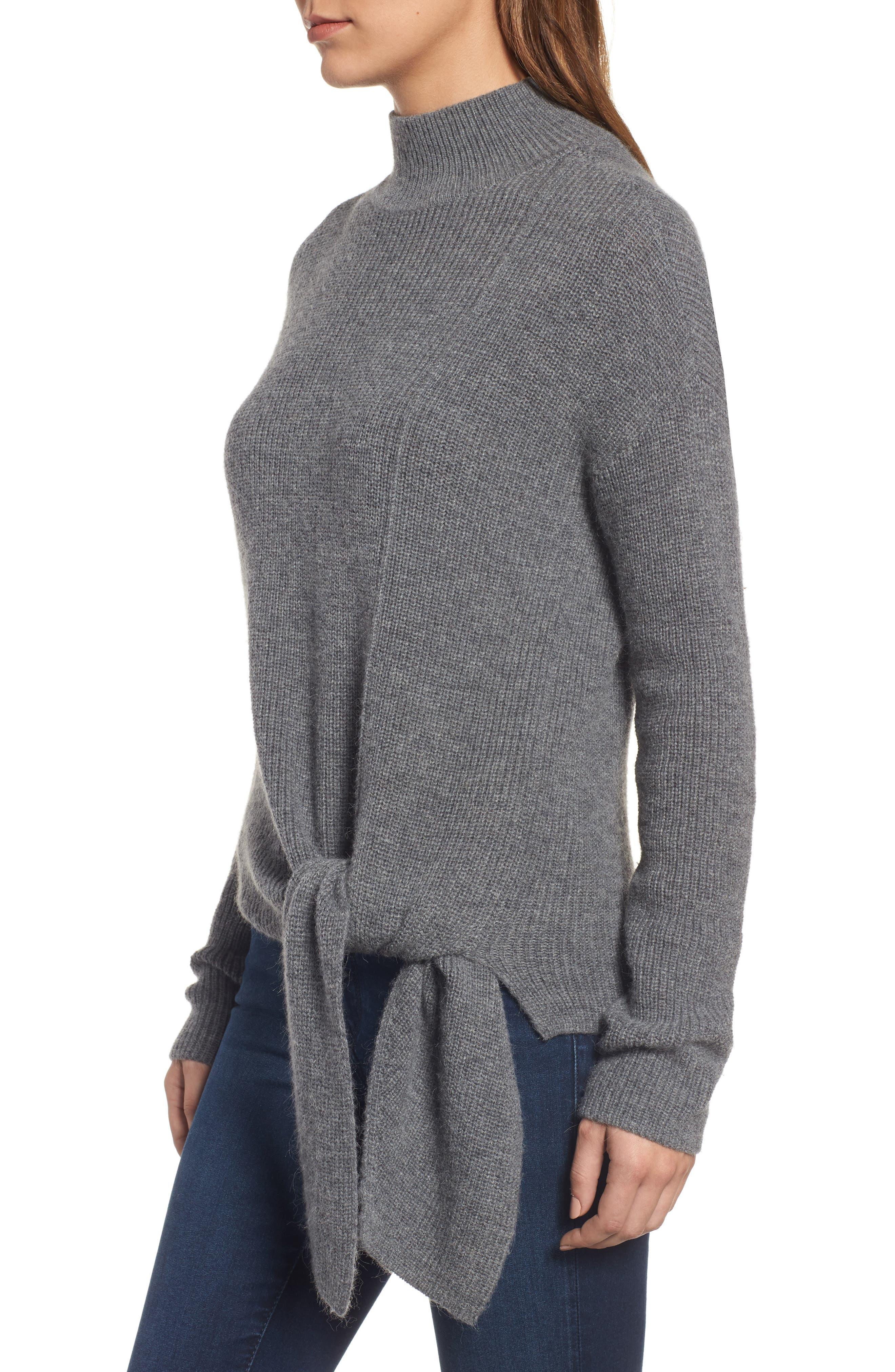 Alternate Image 4  - Halogen® Tie Hem Sweater (Regular & Petite)