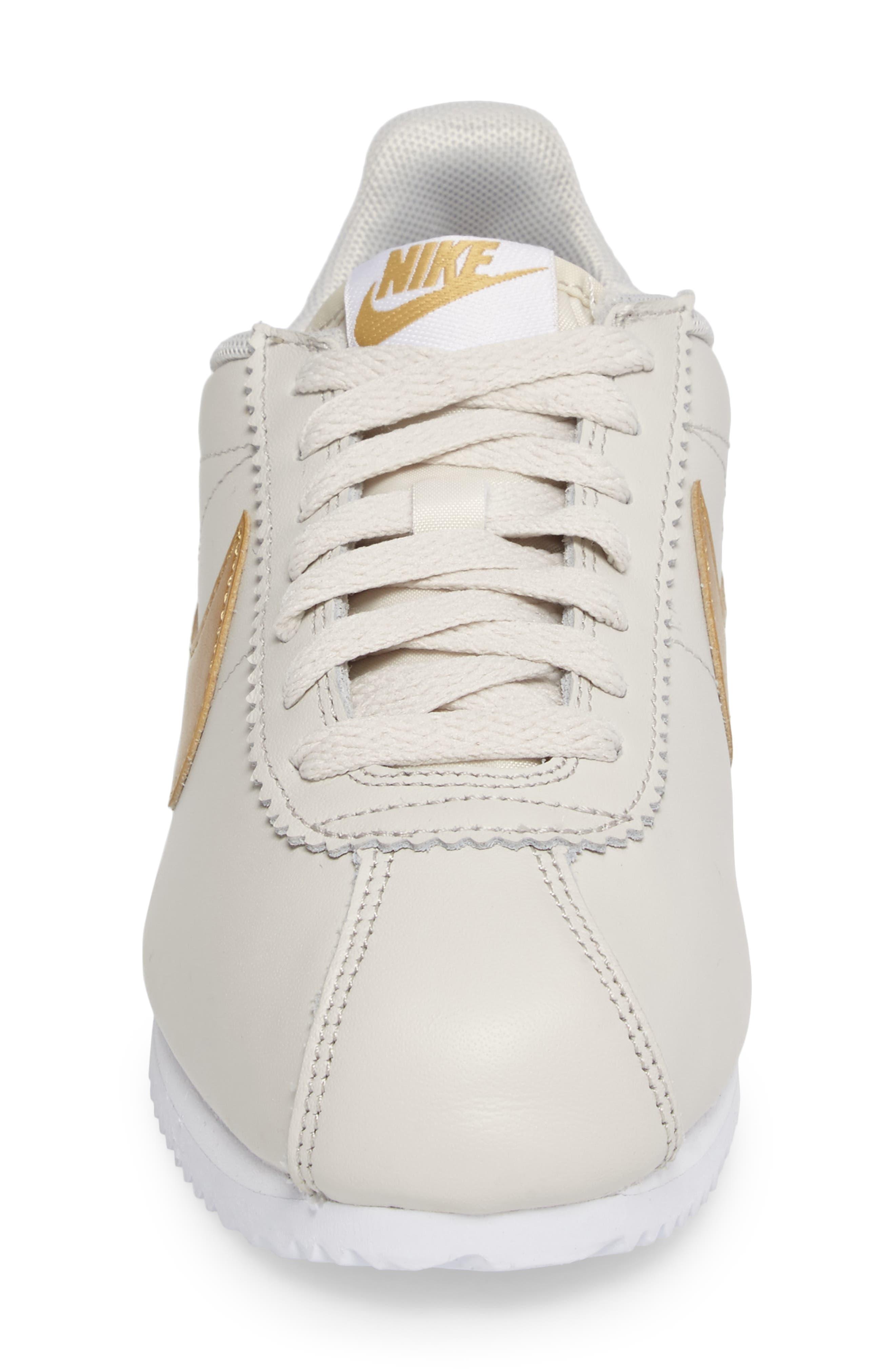 'Classic Cortez' Sneaker,                             Alternate thumbnail 5, color,                             Bone